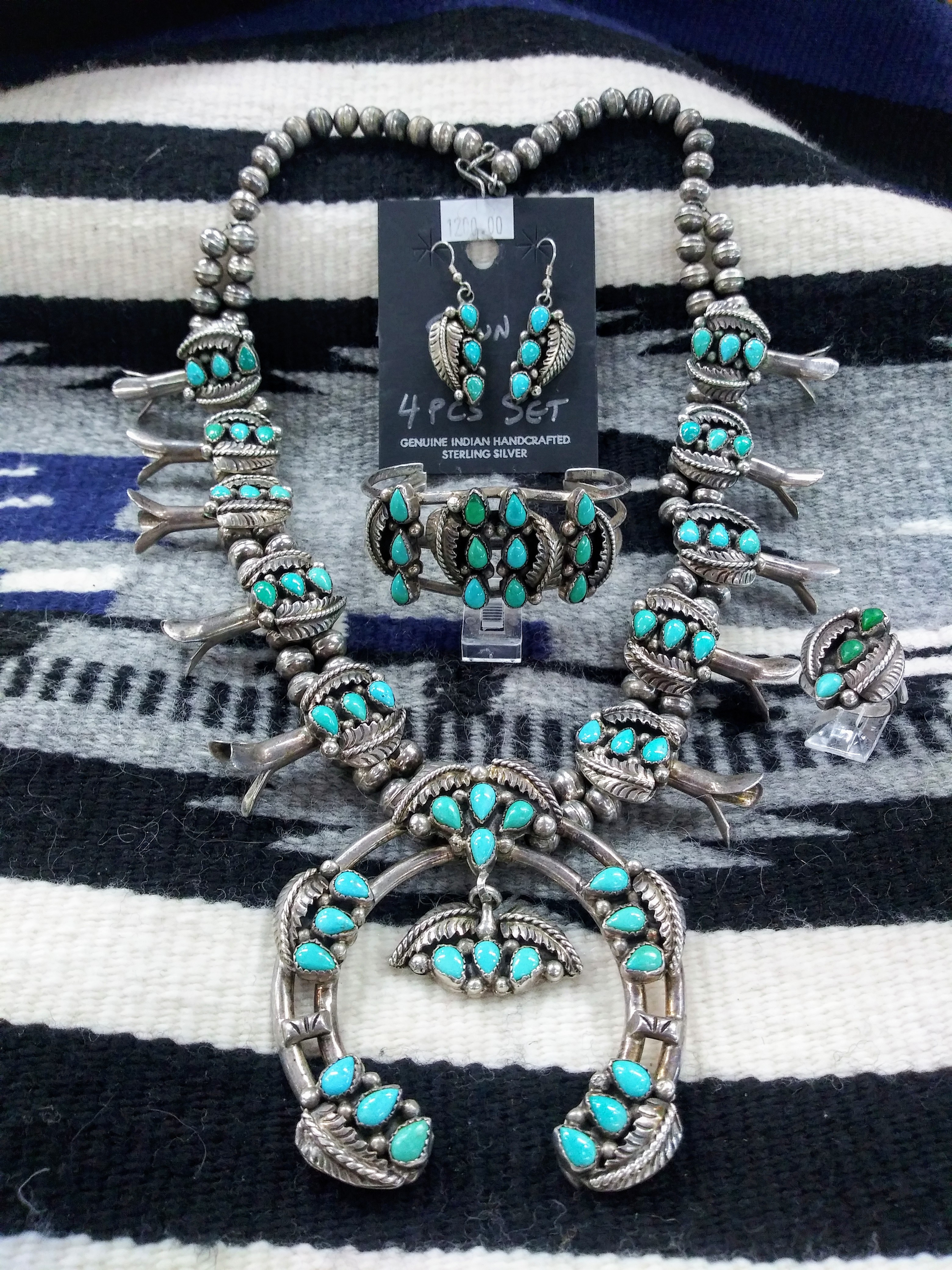 SBN1- Pawn Squash Blossom Necklace Set