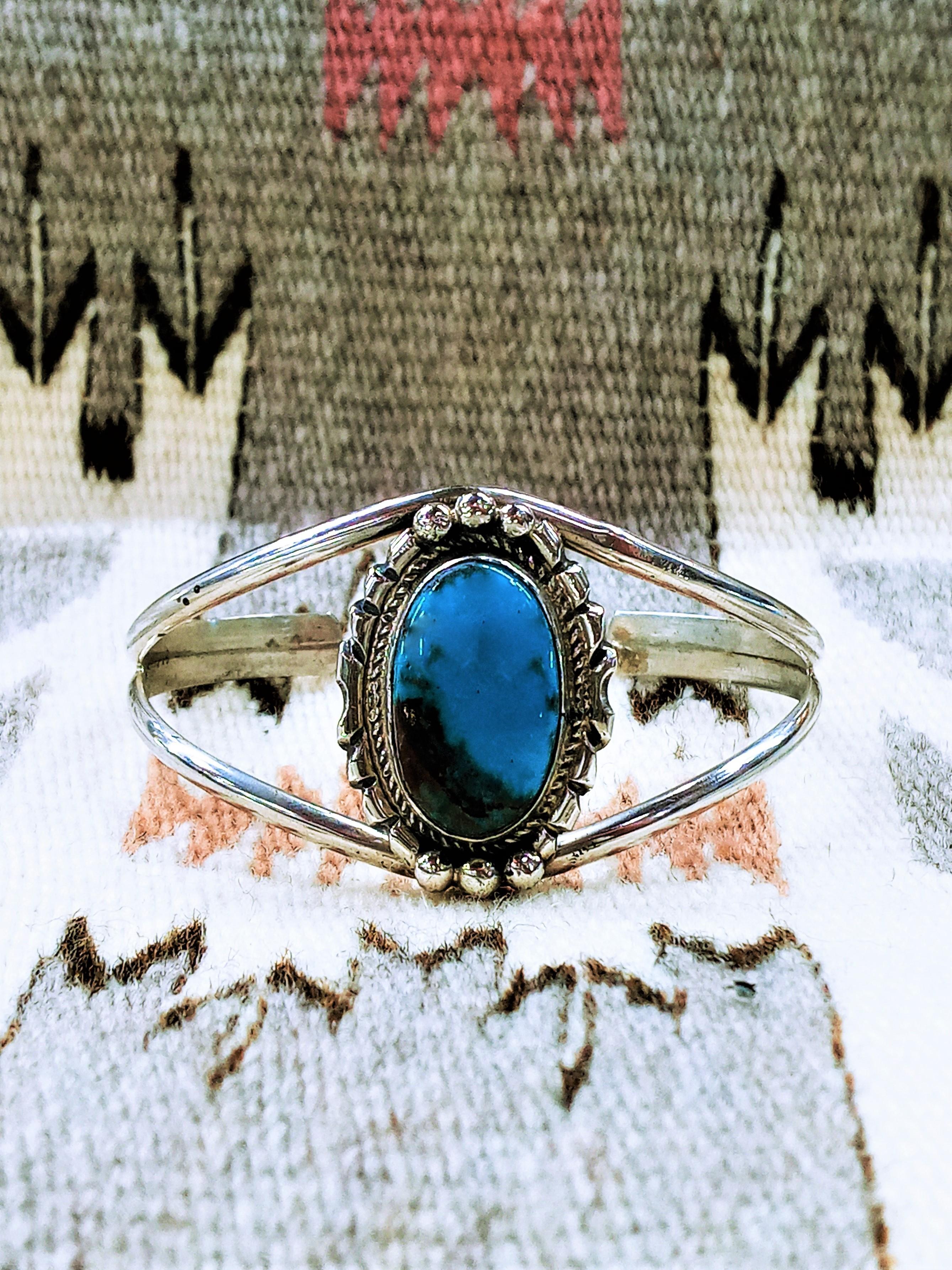 ABB2- Navajo Bisbee Turquoise Bracelet