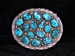 LMBB1 Monroe & Lillie Ashley Sleeping Beauty Turquoise Belt Buckle