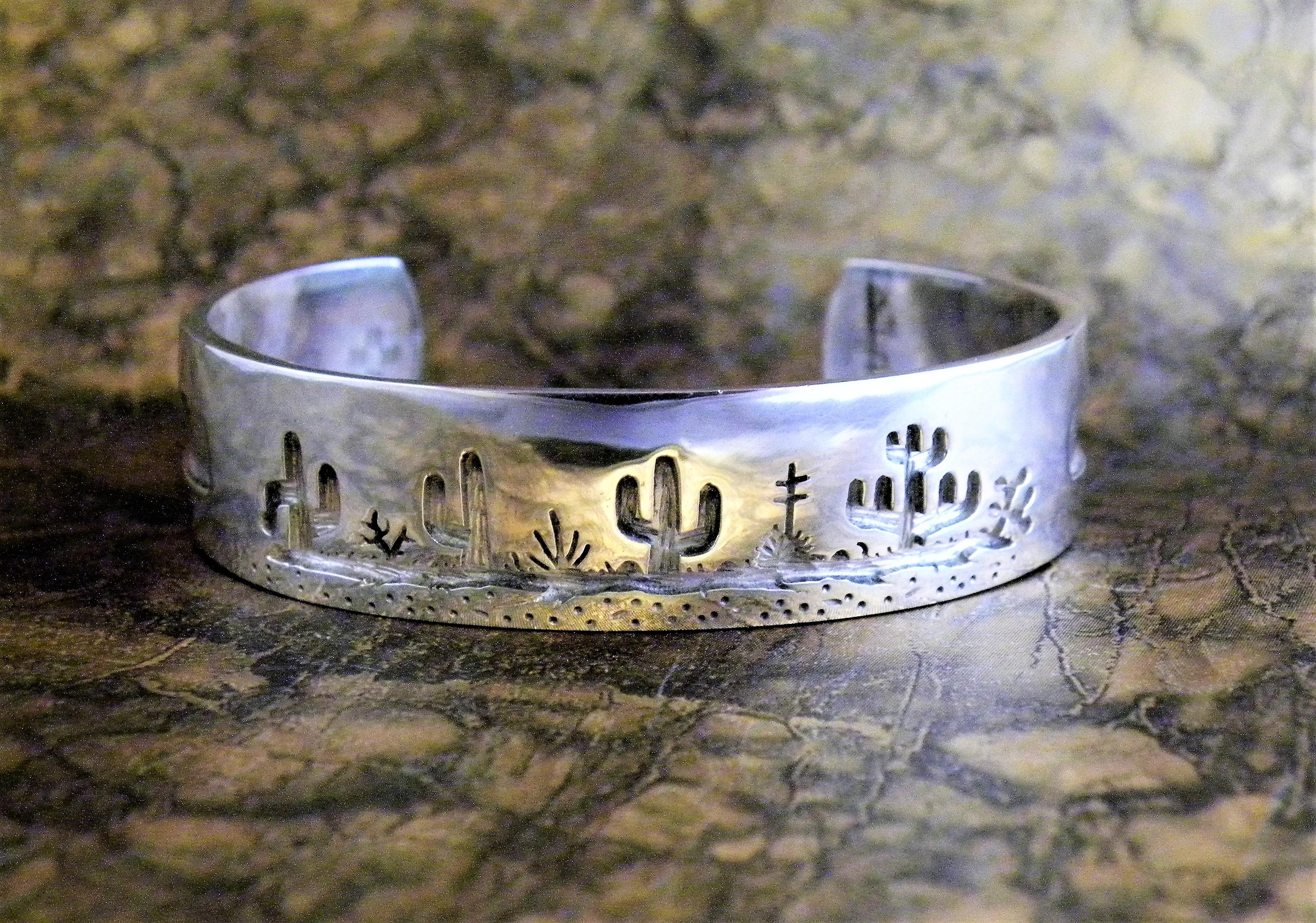 RMB2 Tohono O'odham Overlay Bracelet By Rick Manuel