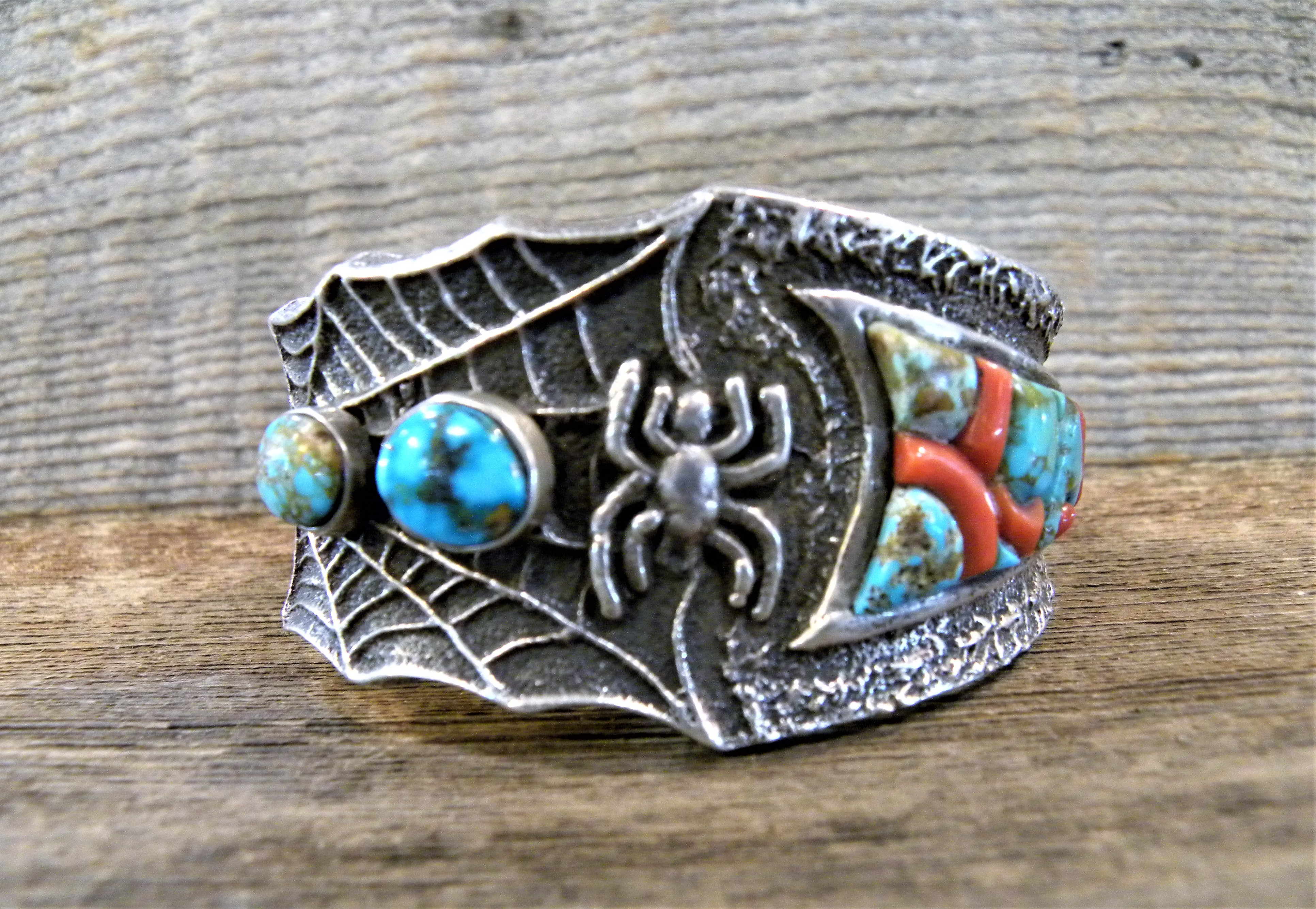 PB1 Pawn Tufa Cast Bracelet By Navajo Artist Lester James