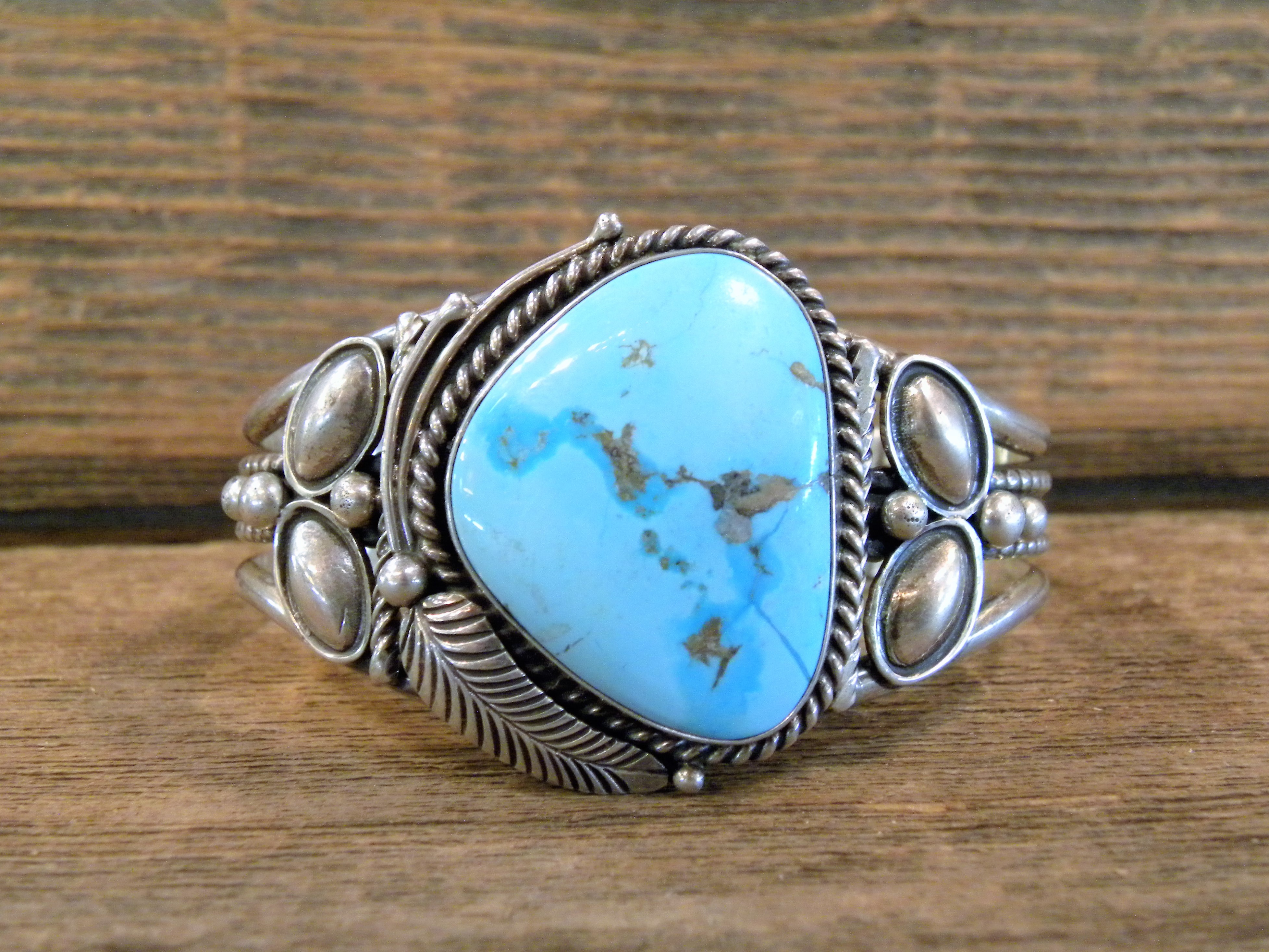 PB28 Pawn Turquoise Navajo Handmade Bracelet