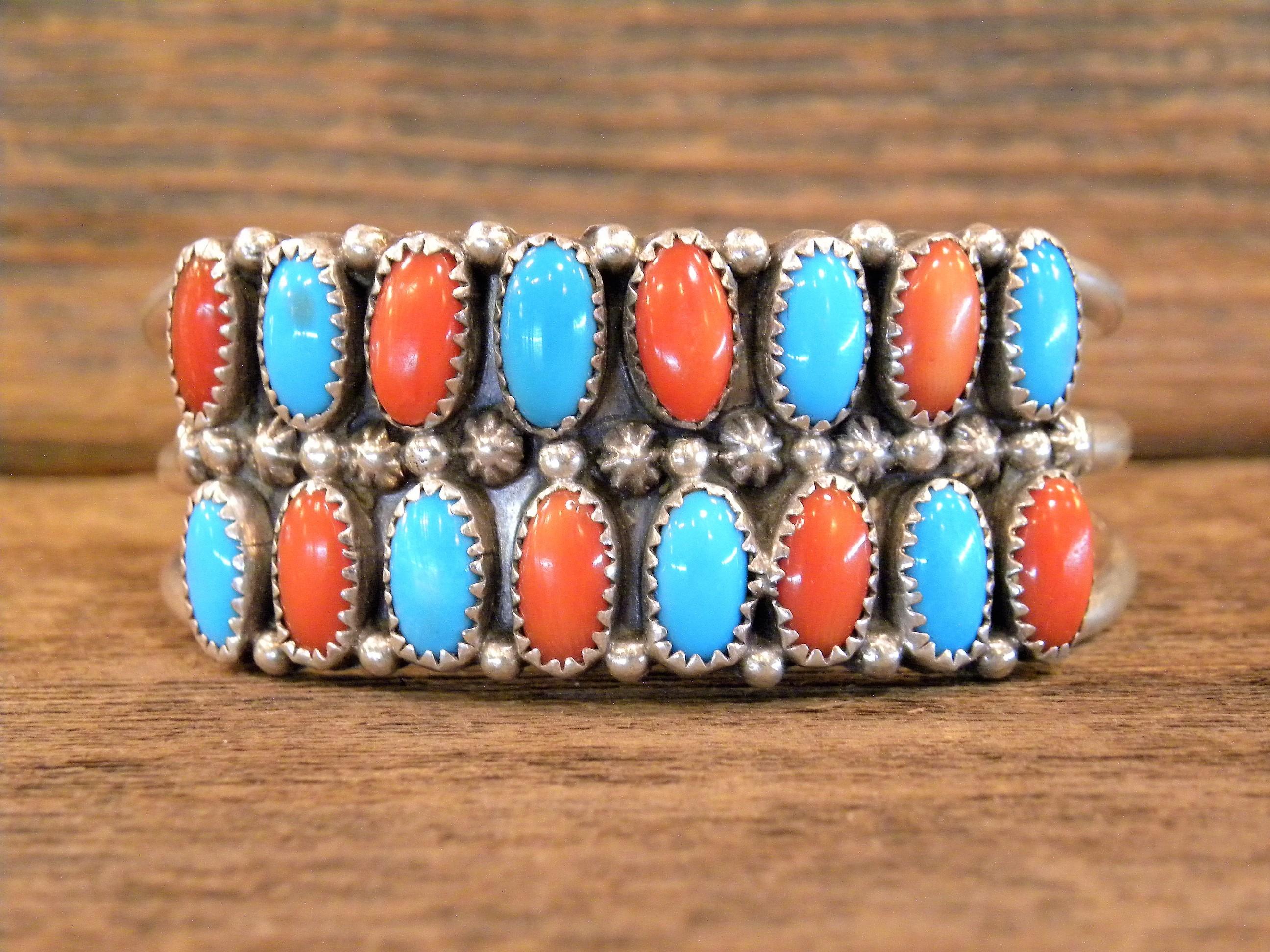 PB59 Pawn Turquoise & Coral Bracelet