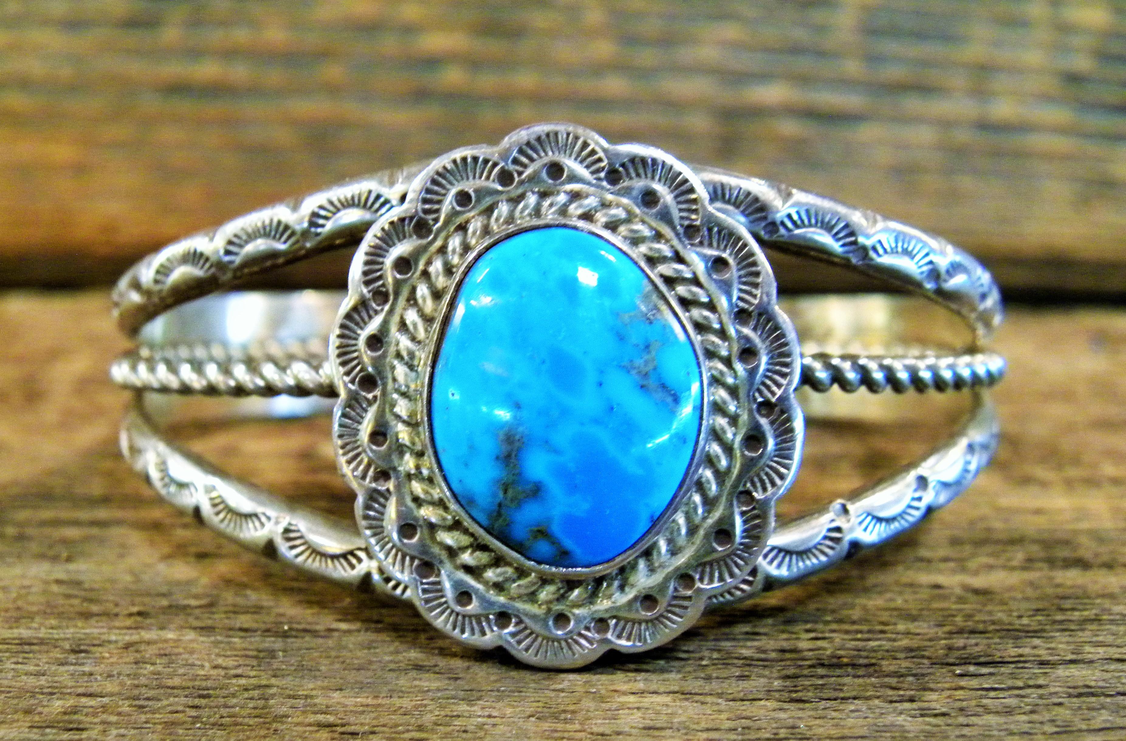 PB71 Pawn Navajo Handmade Turquoise Bracelet