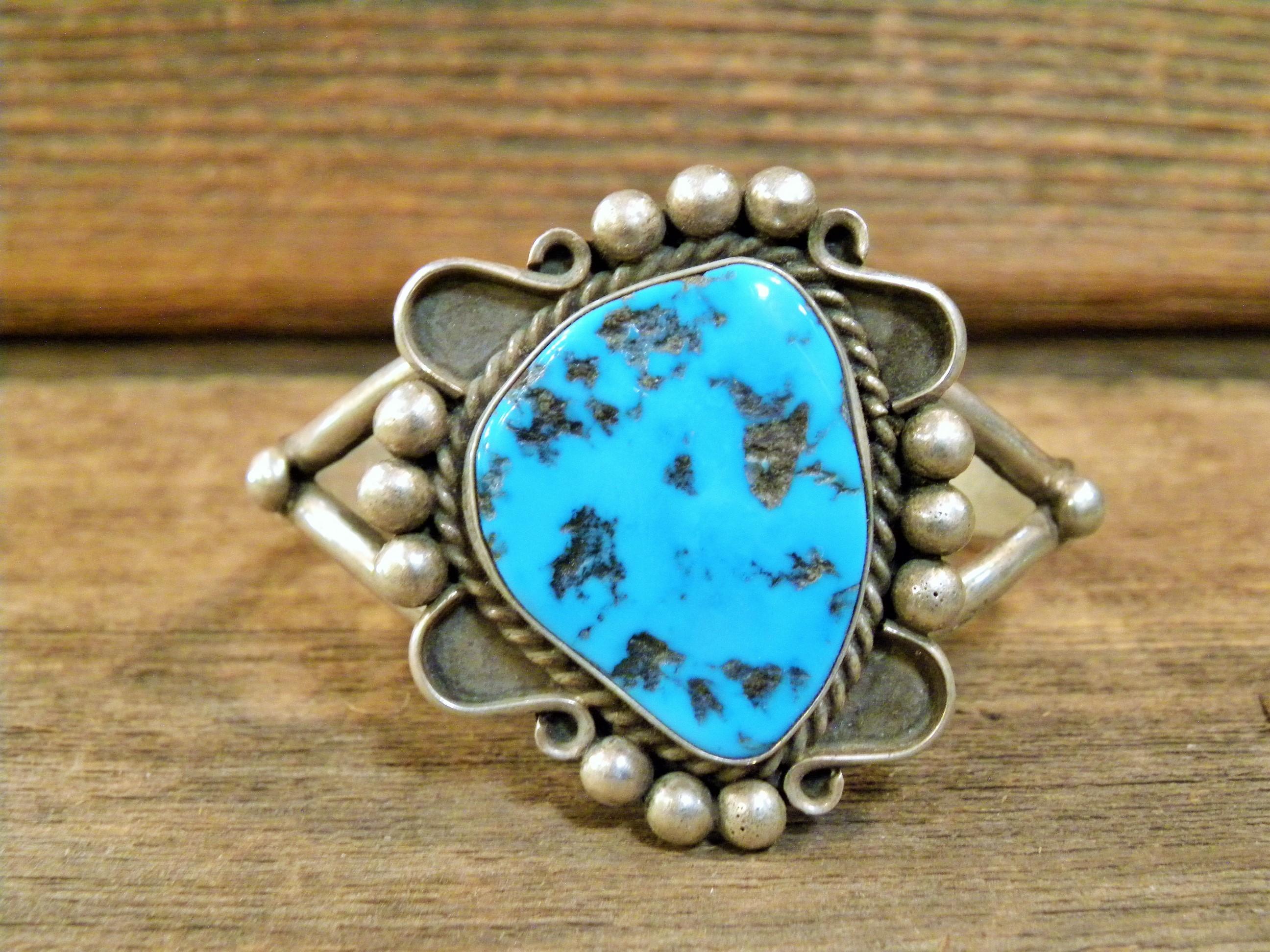 PB93 Pawn Navajo Handmade Turquoise Bracelet