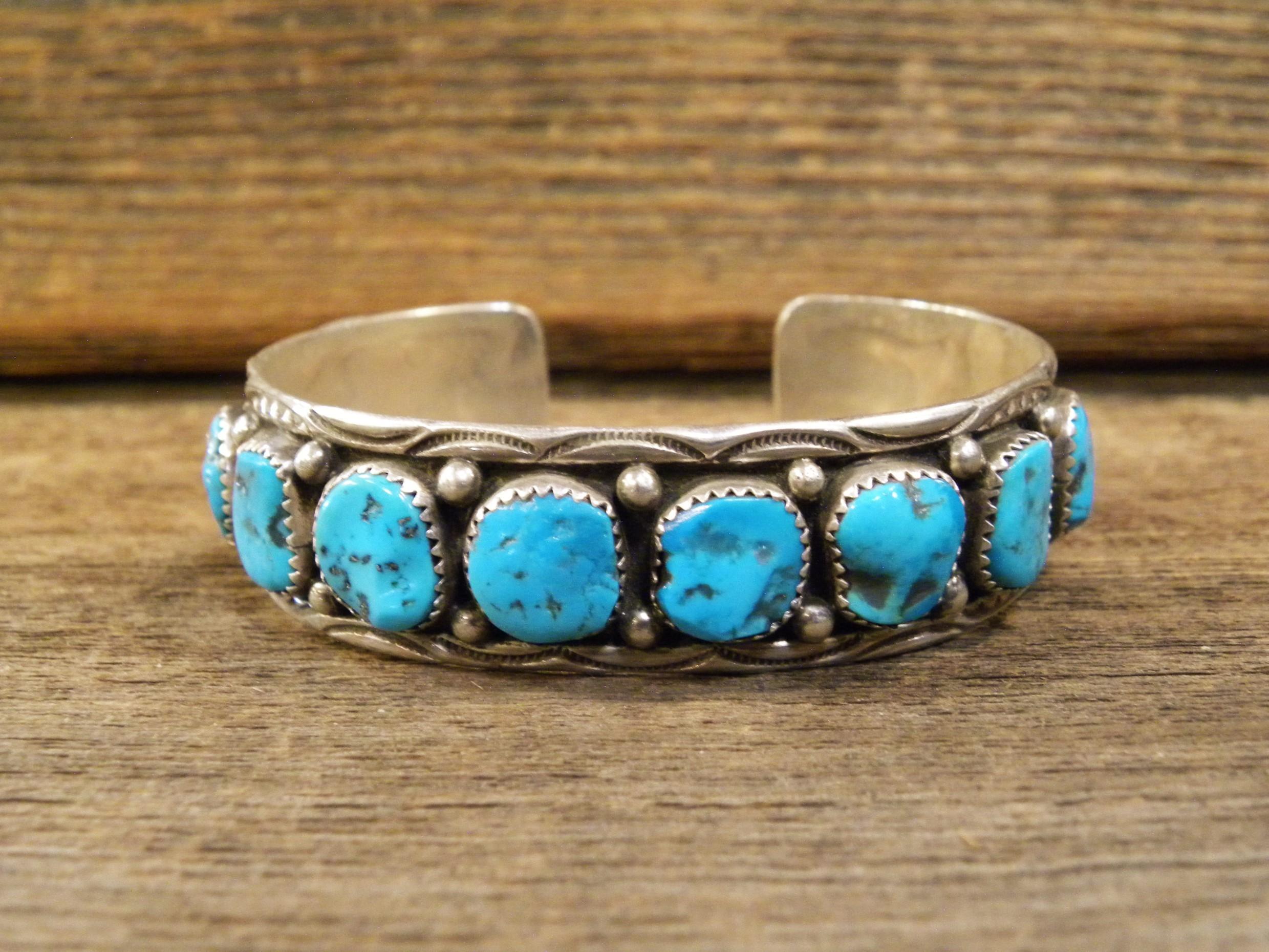 PB96 Pawn Navajo Sleeping Beauty Turquoise Bracelet