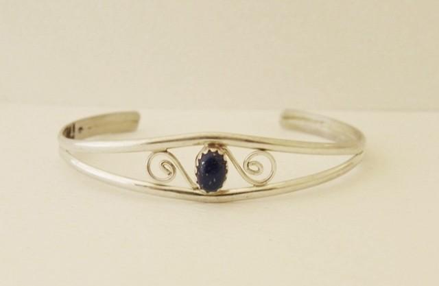 B1 Navajo Lapis Bracelet