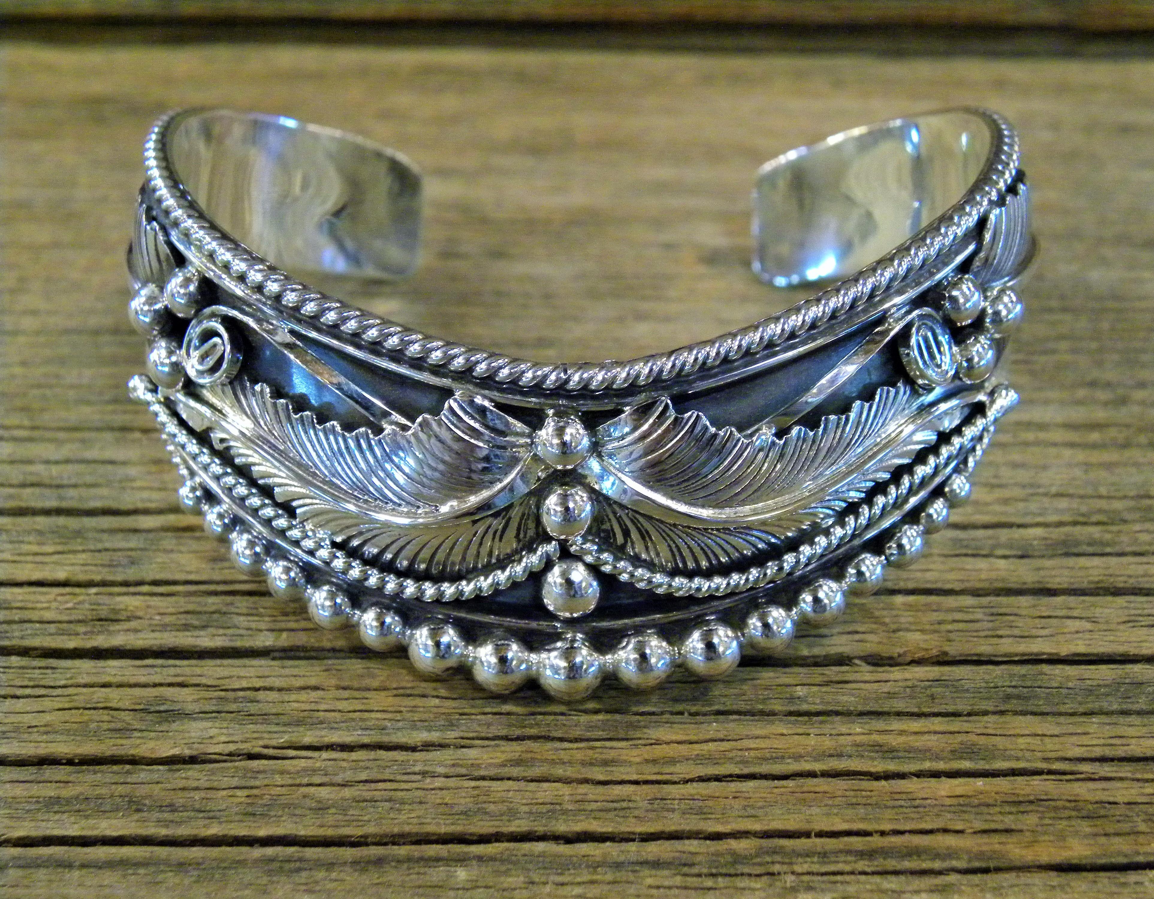 B20- Navajo Handmade Sterling Silver Bracelet