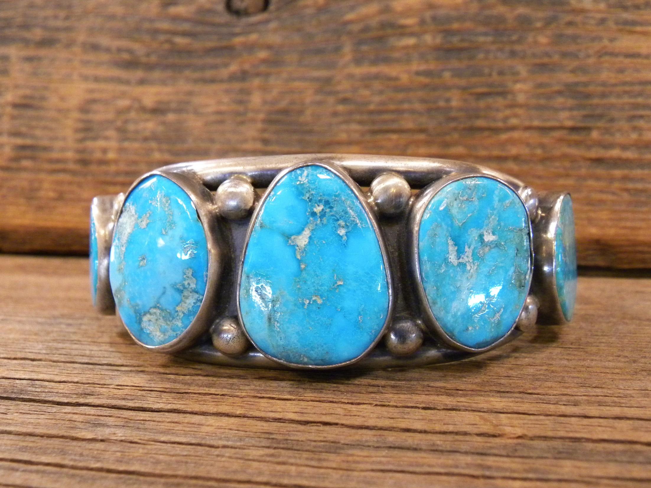 B21- Navajo Handmade Turquoise Bracelet