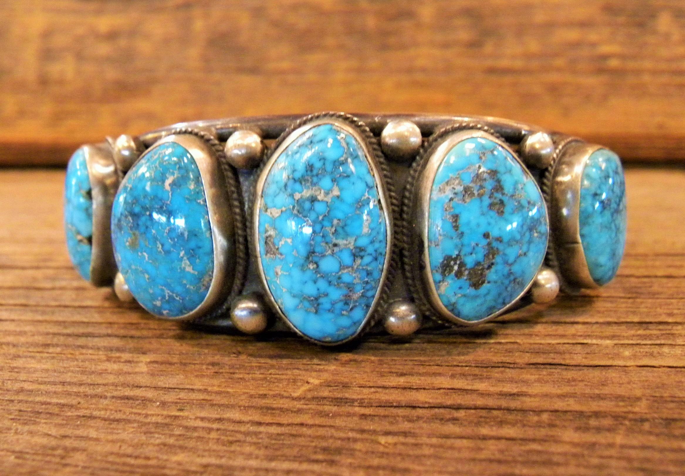 B23- Navajo Handmade Turquoise Bracelet