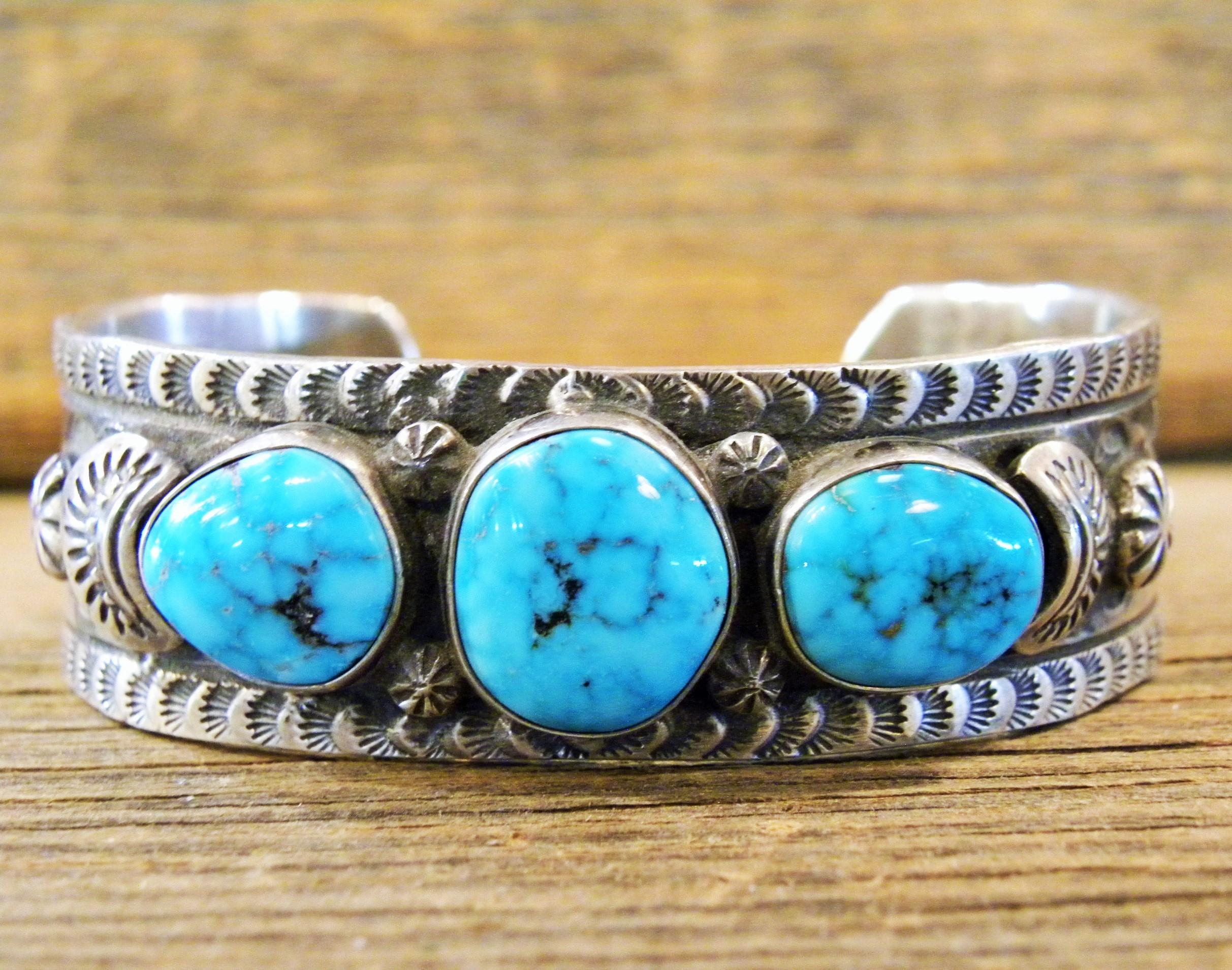 B25- Morenci Turquoise Bracelet