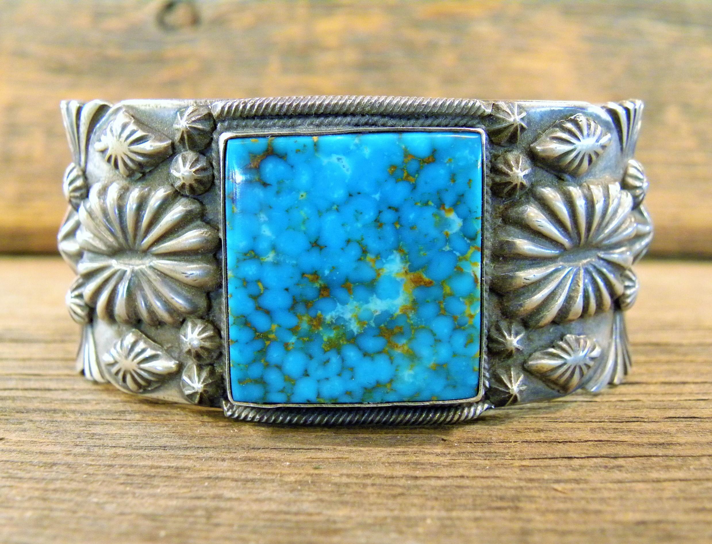 B27- Navajo Handmade Turquoise Bracelet