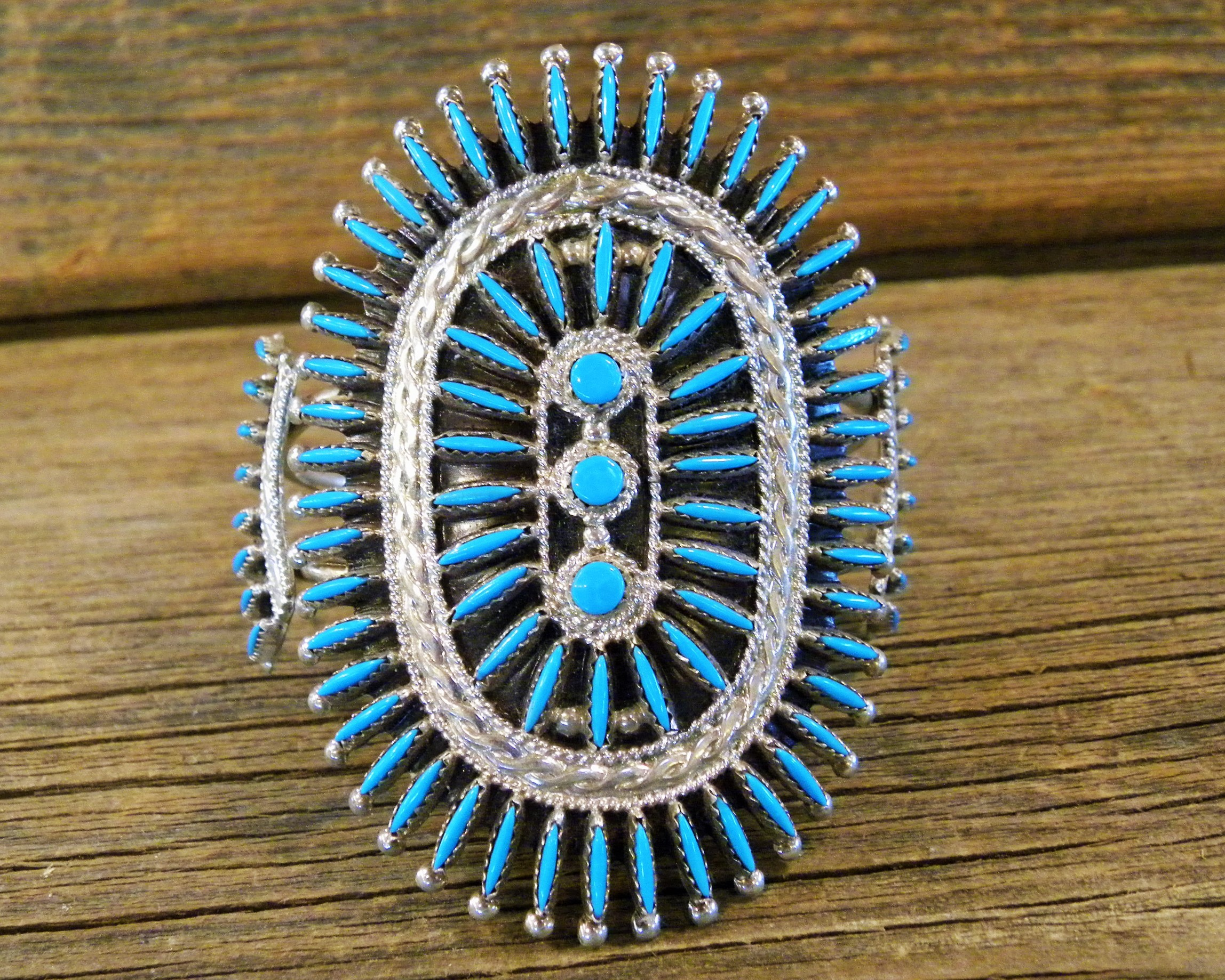 B30- Zuni Handmade Needle Point Bracelet