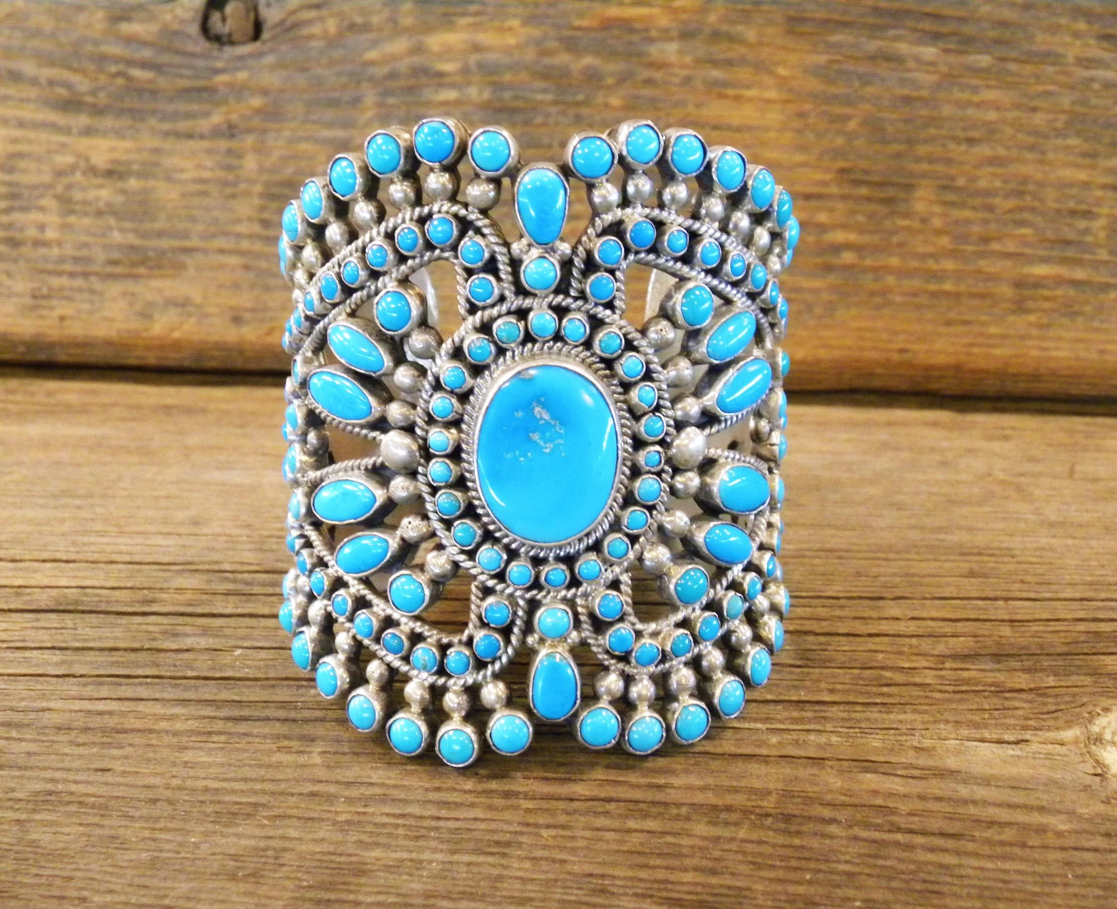 B31- Navajo Alice Lister Turquoise Bracelet