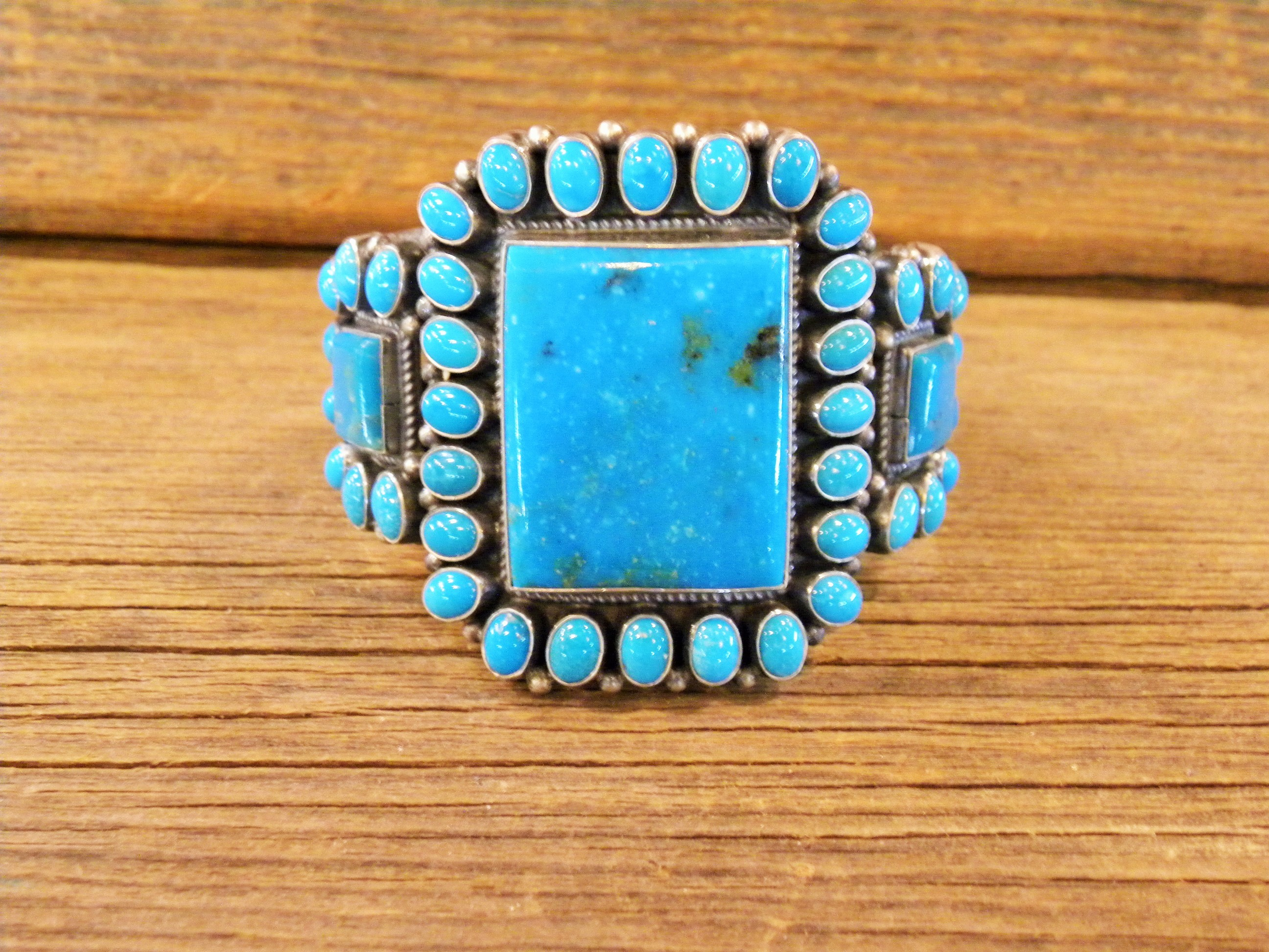 B32- Navajo Handmade By Anthony Skeets Turquoise Bracelet