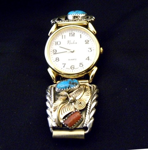 WT3 Turquoise & Coral Men's Watch