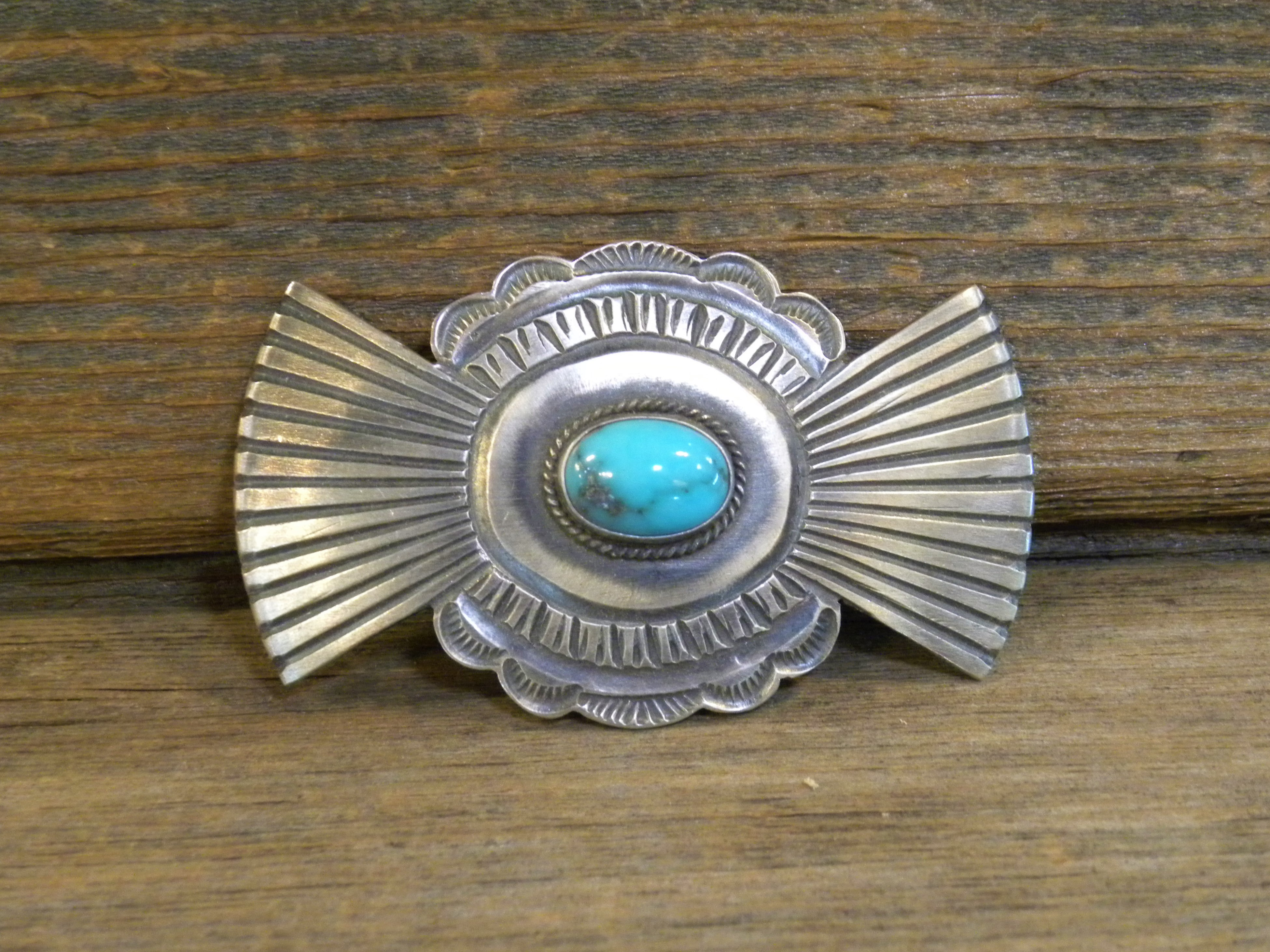 HC5- Pawn Turquoise Hair Clip