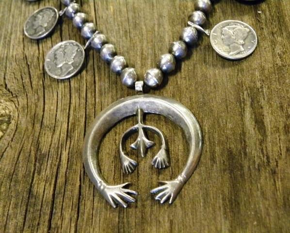 SBN8 Liberty Dimes Squash Blossom Necklace