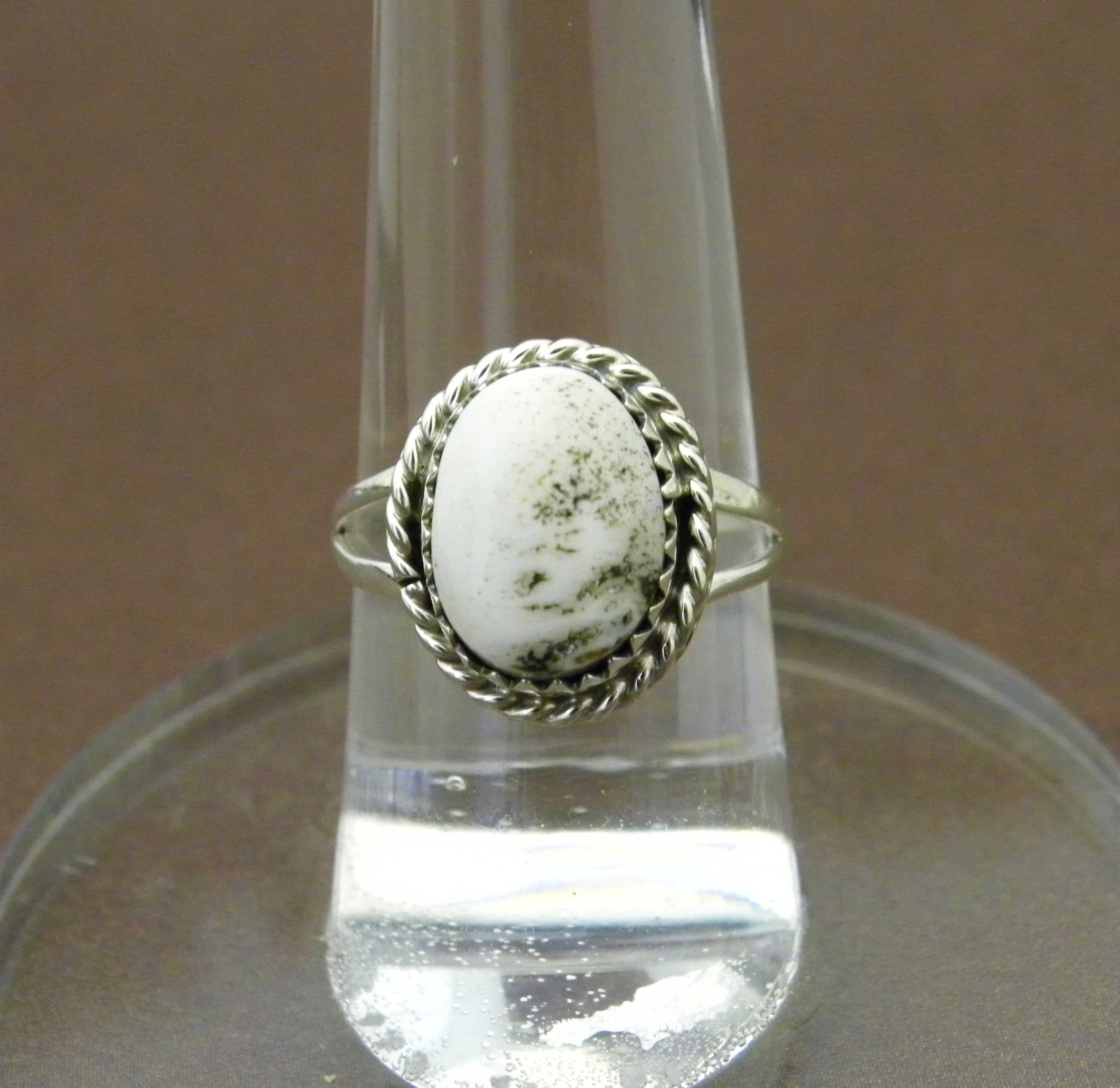 R5- Navajo Handmade White Buffalo Ring