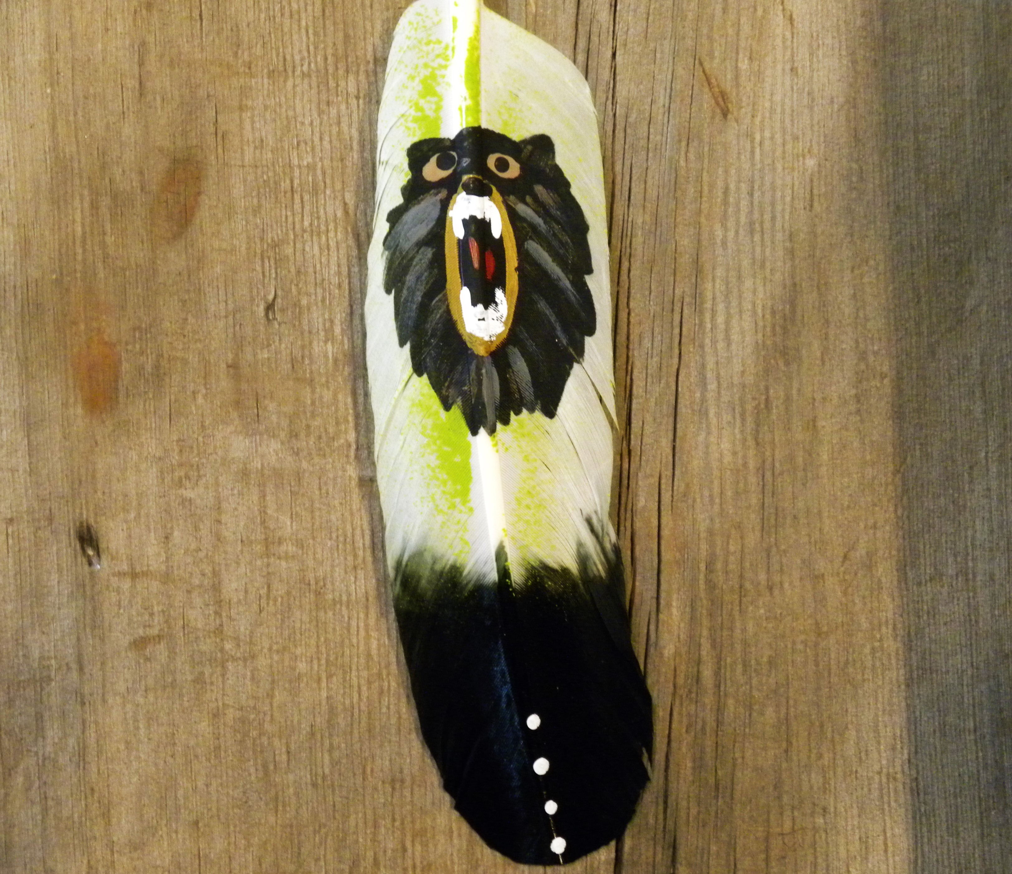 FF17- Navajo Bear Painted Friendship Feather