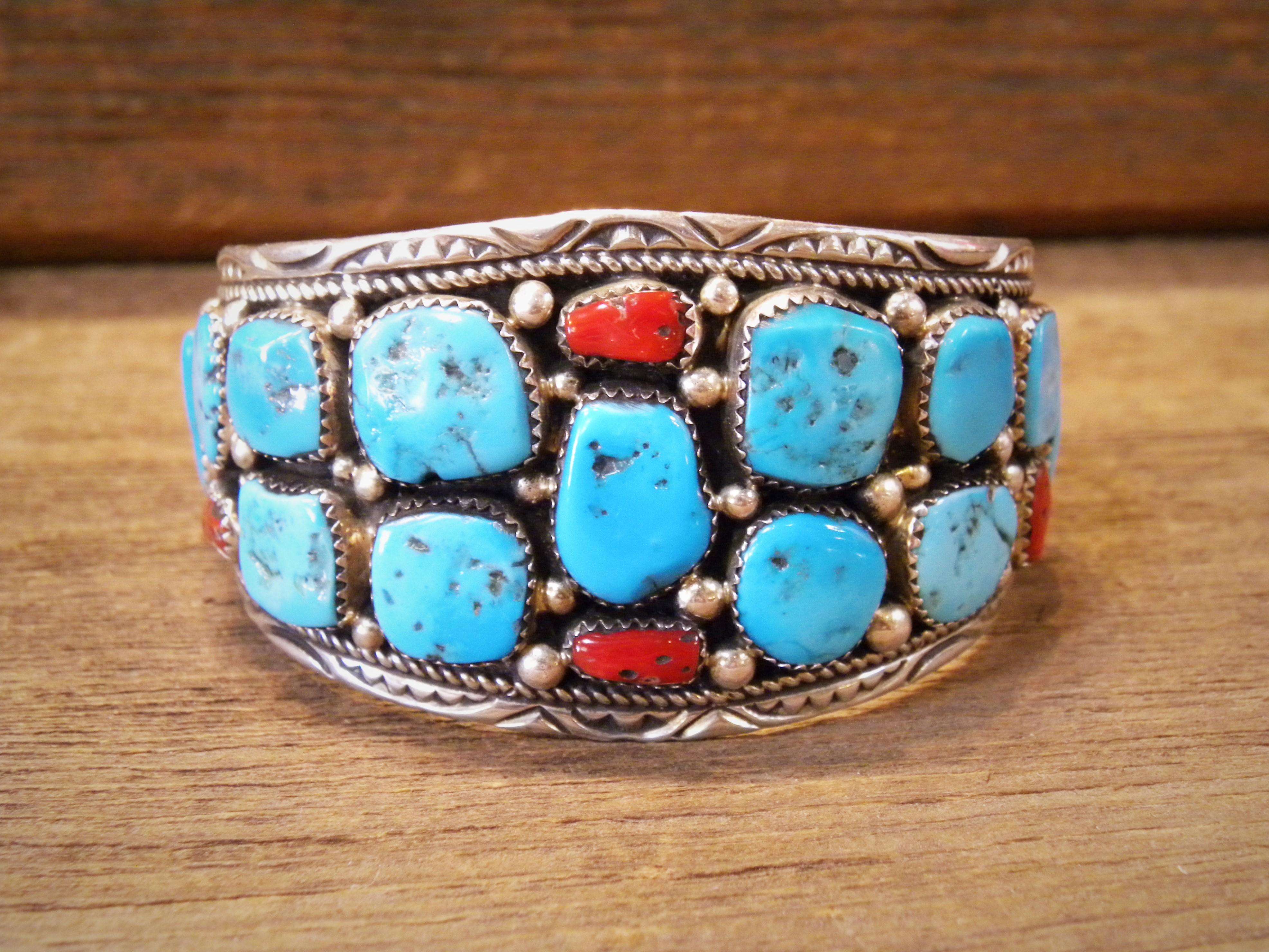 PB11- Pawn Turquoise & Coral Bracelet