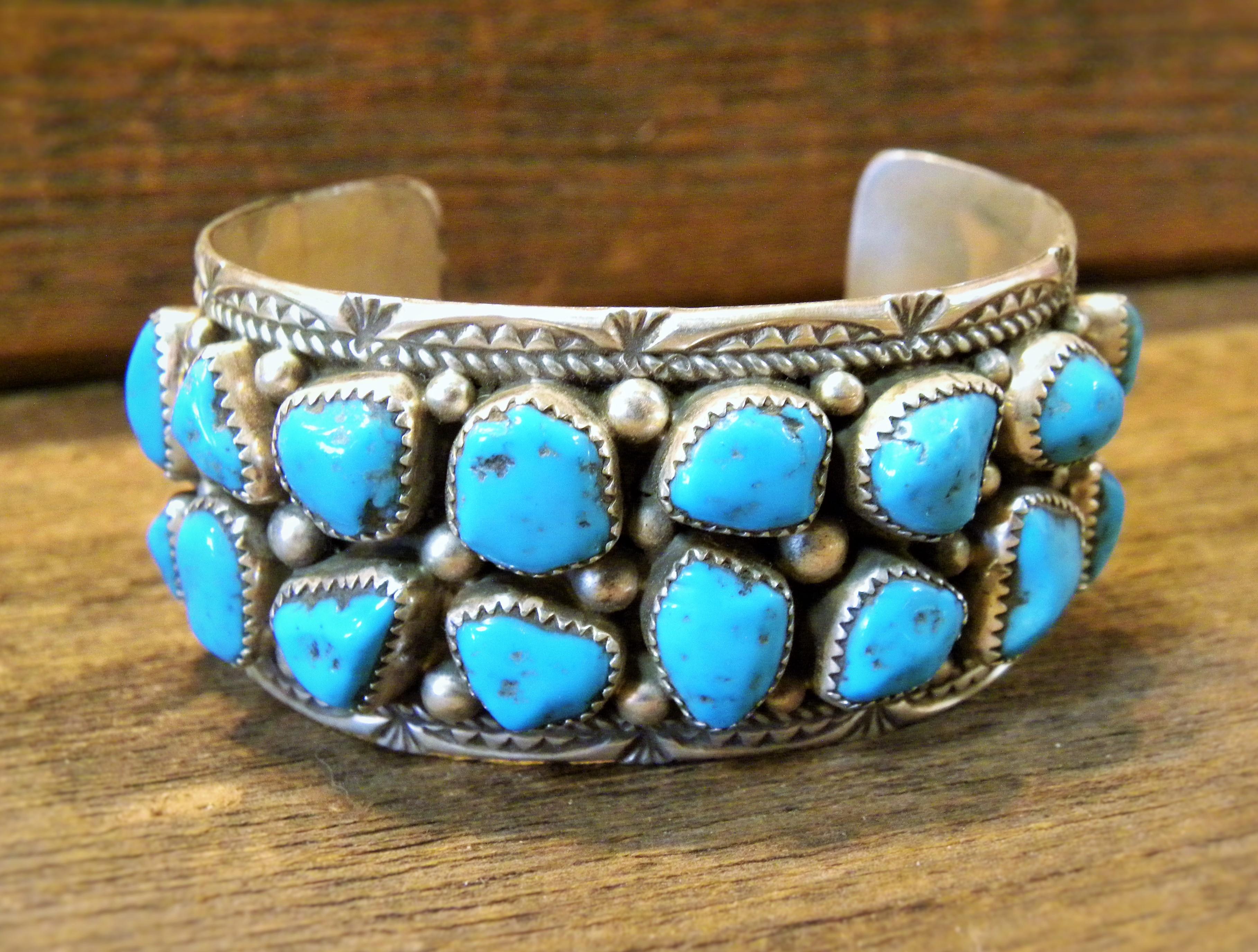 PB22-  Pawn Sleeping Beauty Turquoise Bracelet