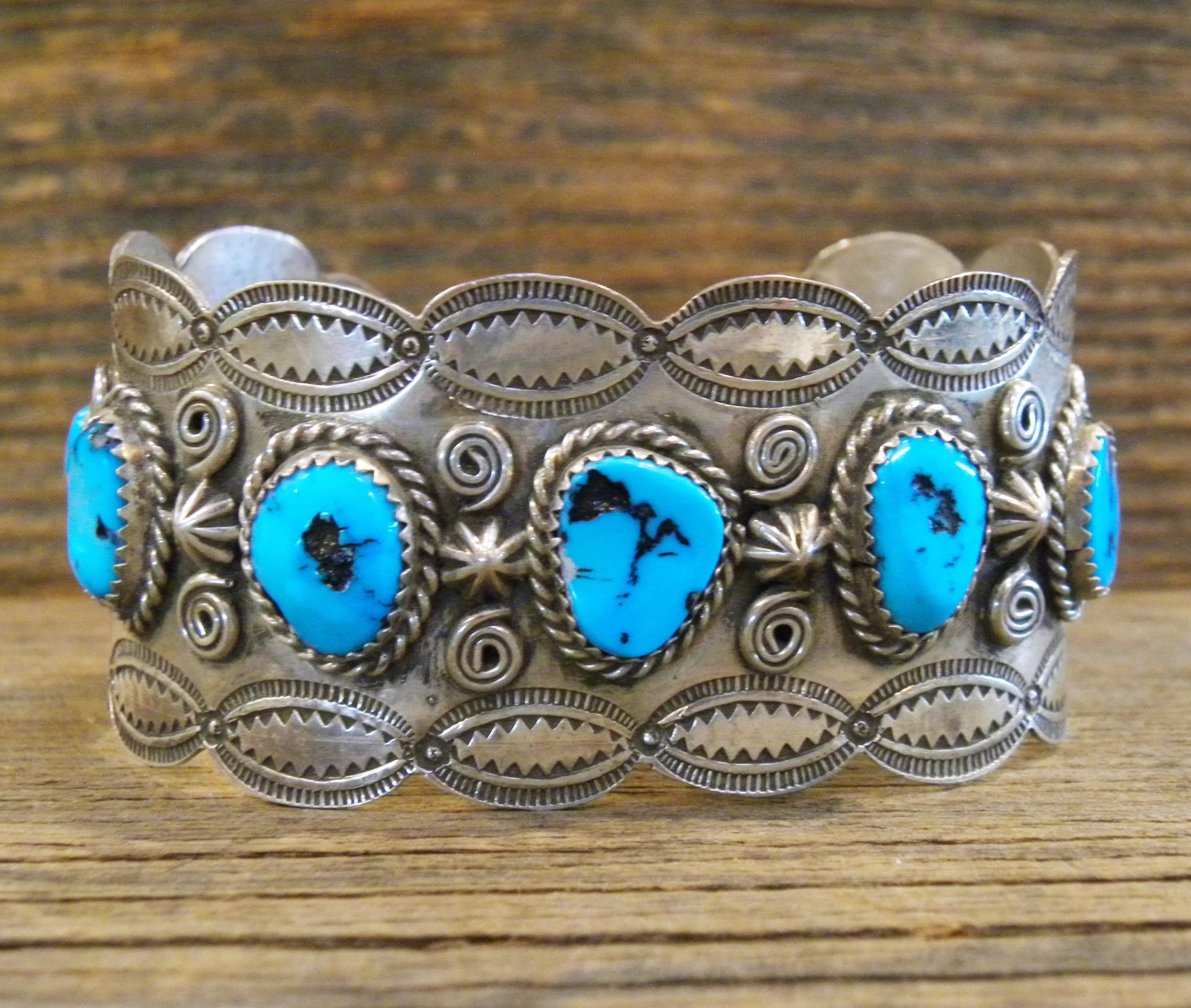 PB48- Pawn Sleeping Beauty Turquoise Bracelet