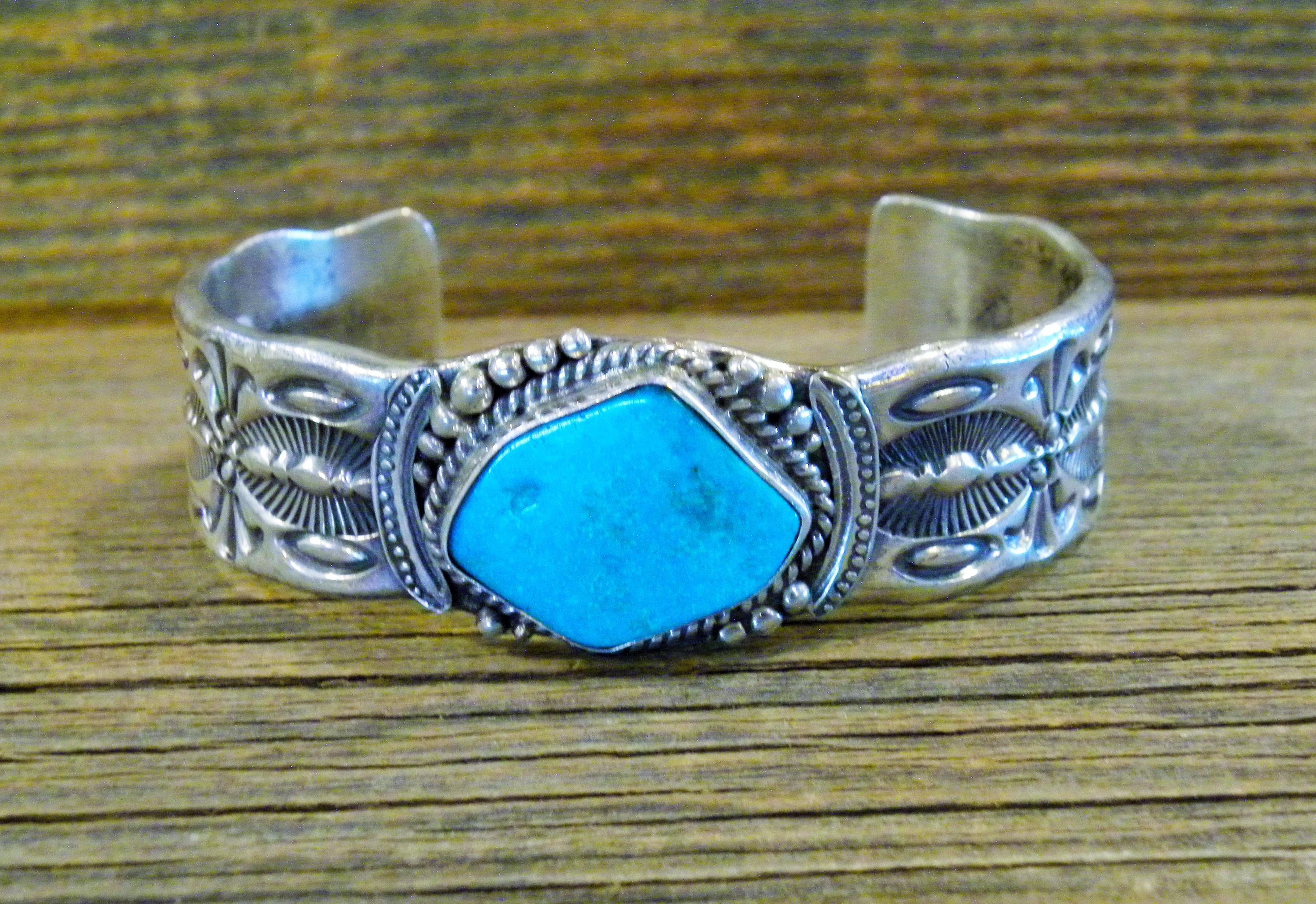 PB59- Pawn Men's Turquoise Bracelet