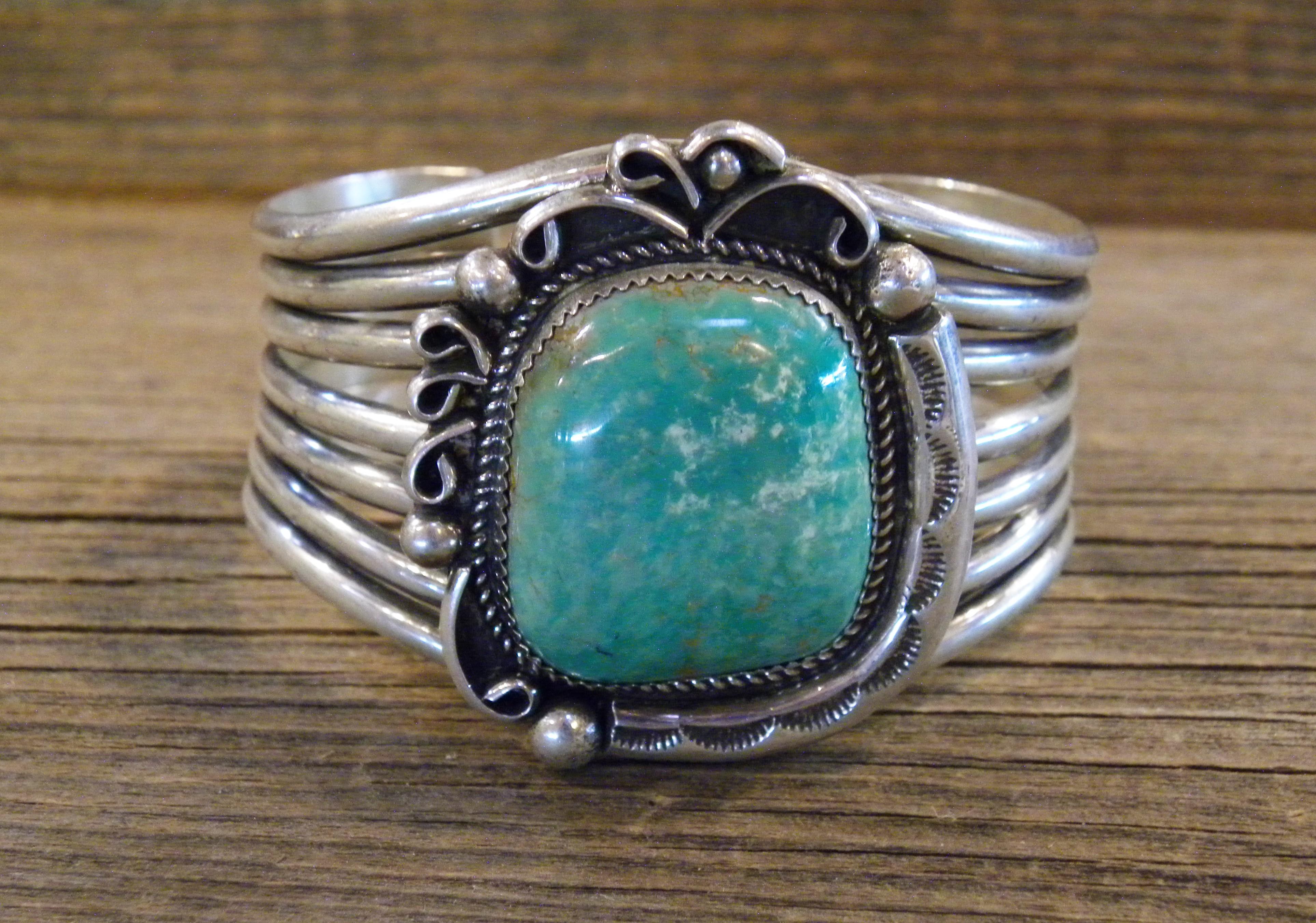 PB67- Pawn Navajo Turquoise Bracelet