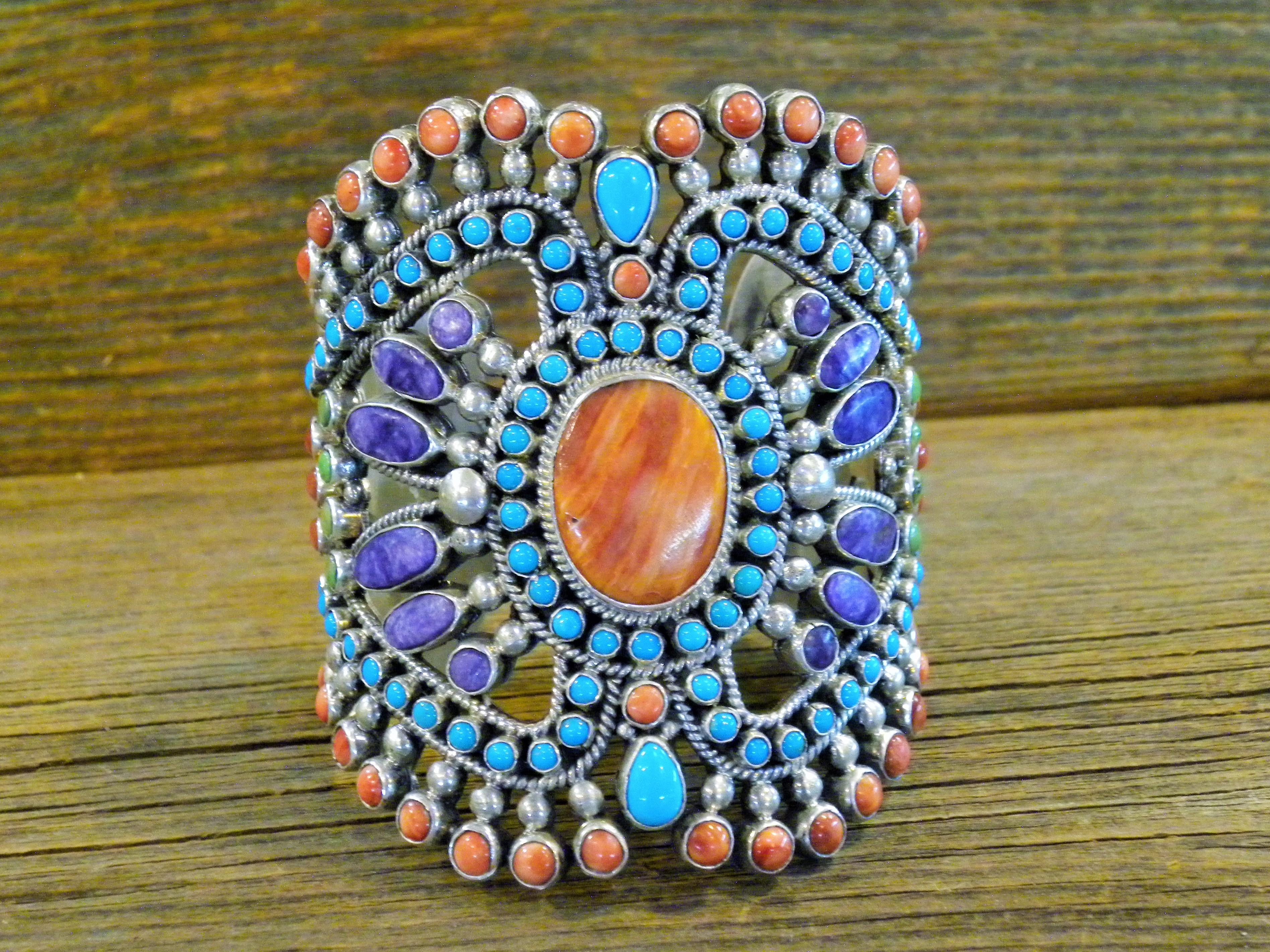 B32- Navajo Alice Lister Multi Stone Bracelet