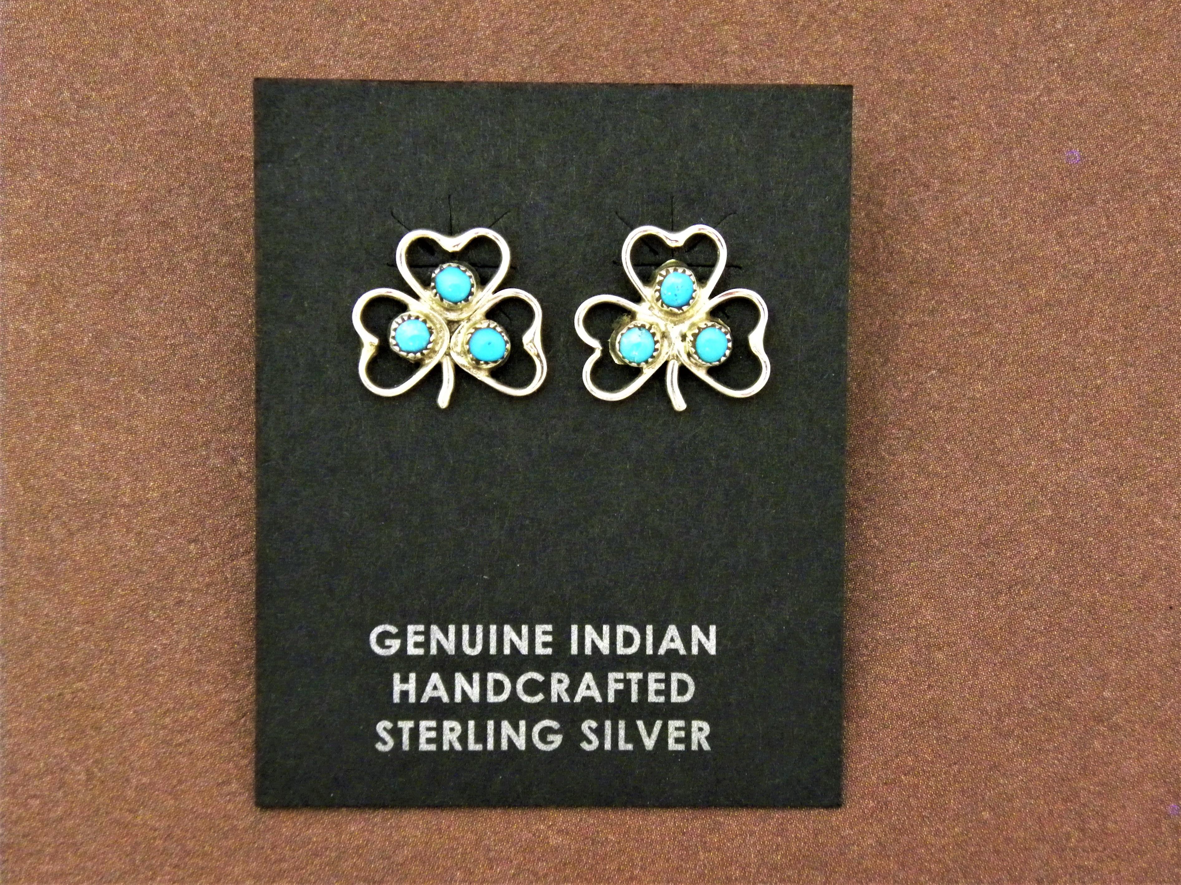 ER5- Zuni Turquoise Earrings