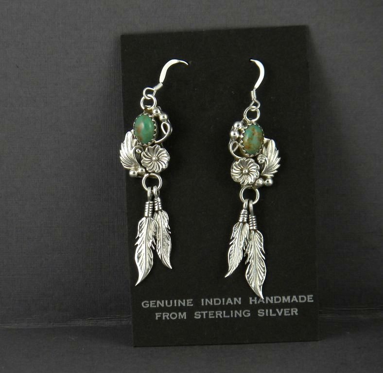 ERN50 Navajo Handmade Dangle Earrings