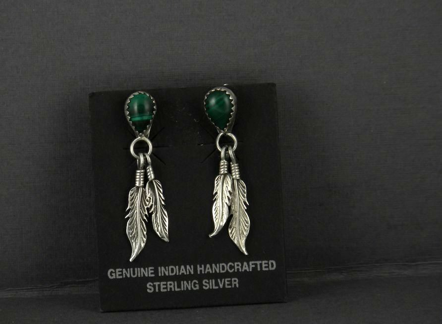 ERN53 Malachite Earrings