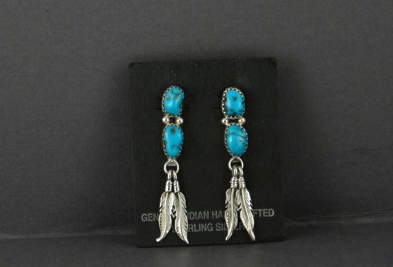 ERN55 Sleeping Beauty Turquoise Earrings