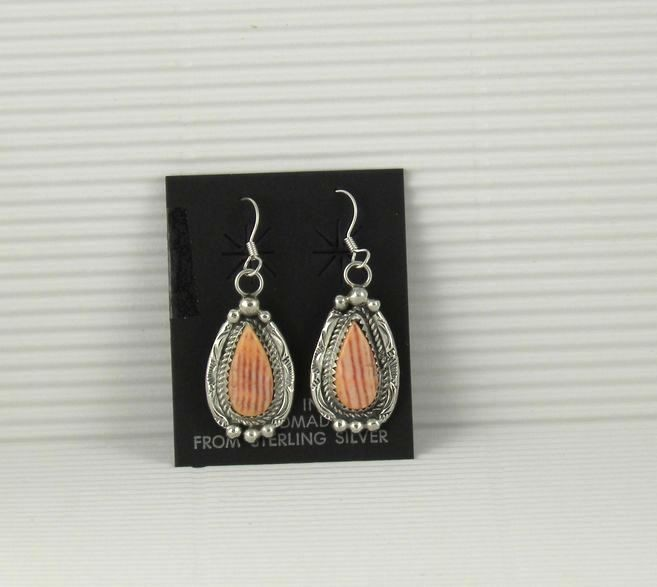ERN71 Monroe and Lillie Ashley Orange Spiny Earrings