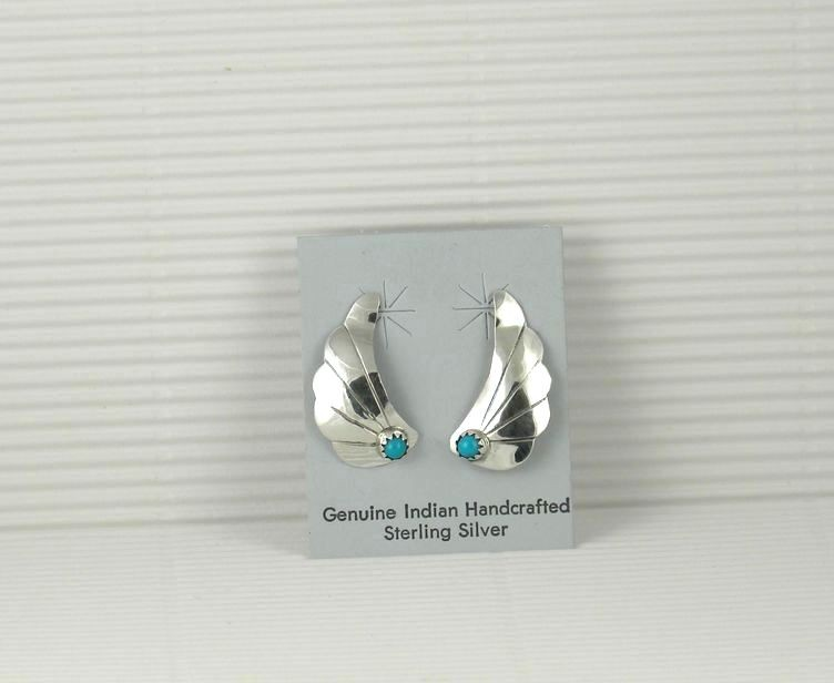 ERN74 Sleeping Beauty Turquoise Earrings