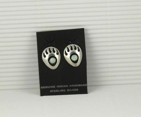 ERN81 Opal Bear Paw Earrings
