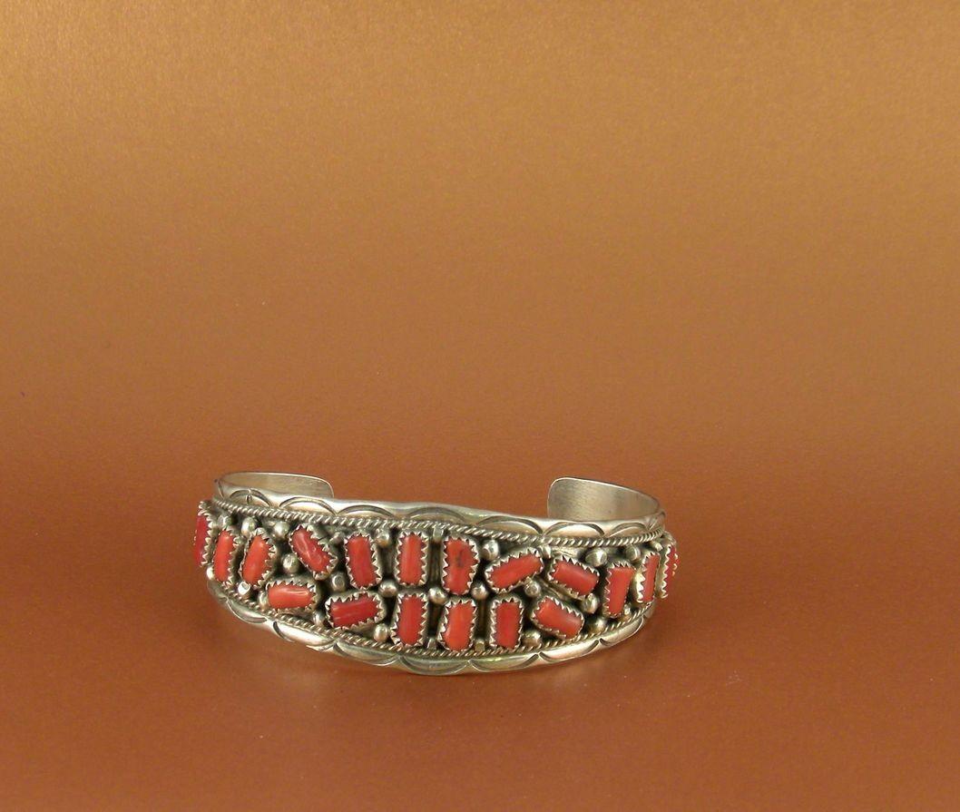 BN71 Pawn Coral Bracelet