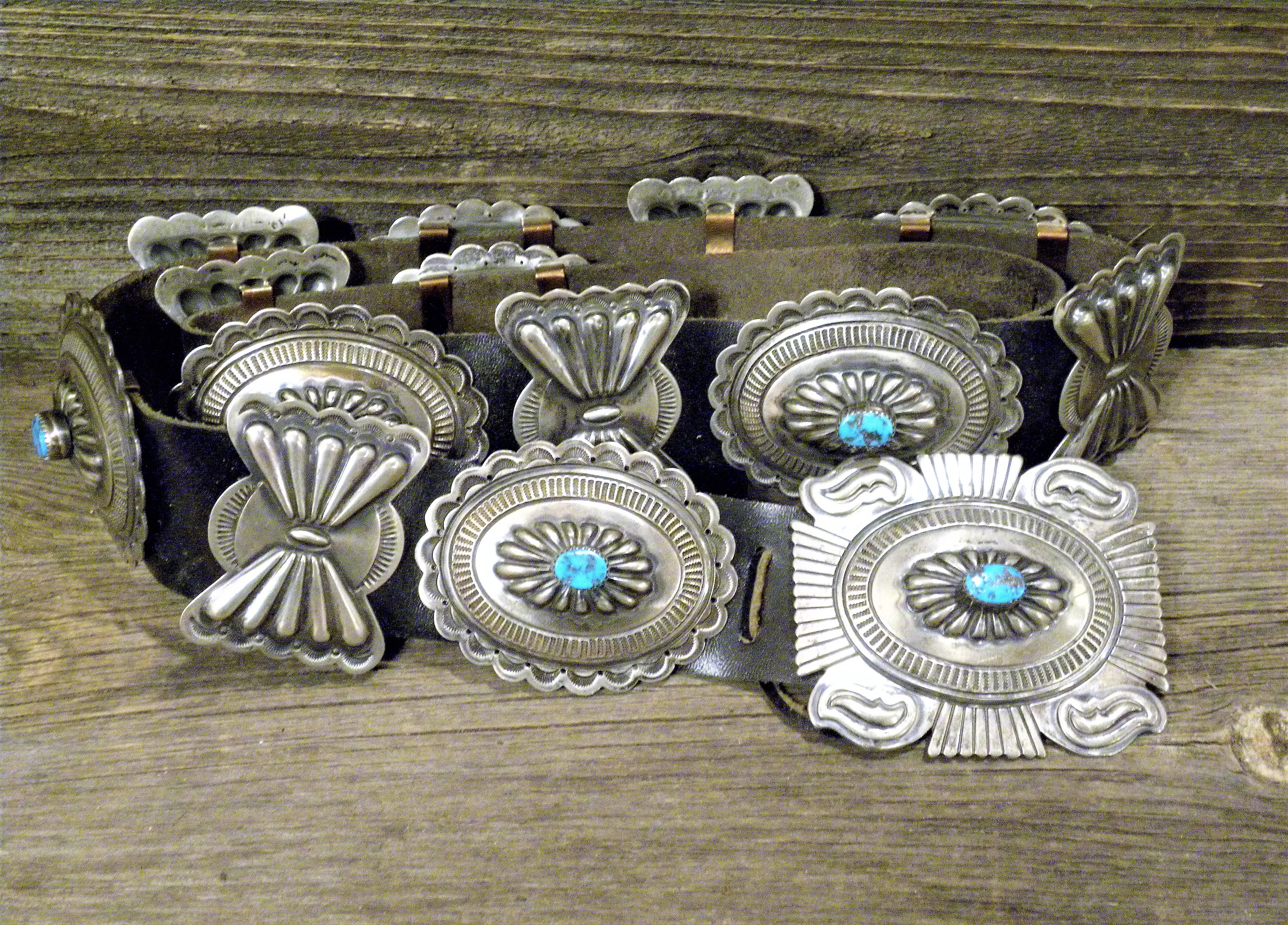CB10 Pawn Navajo Handmade Concho Belt