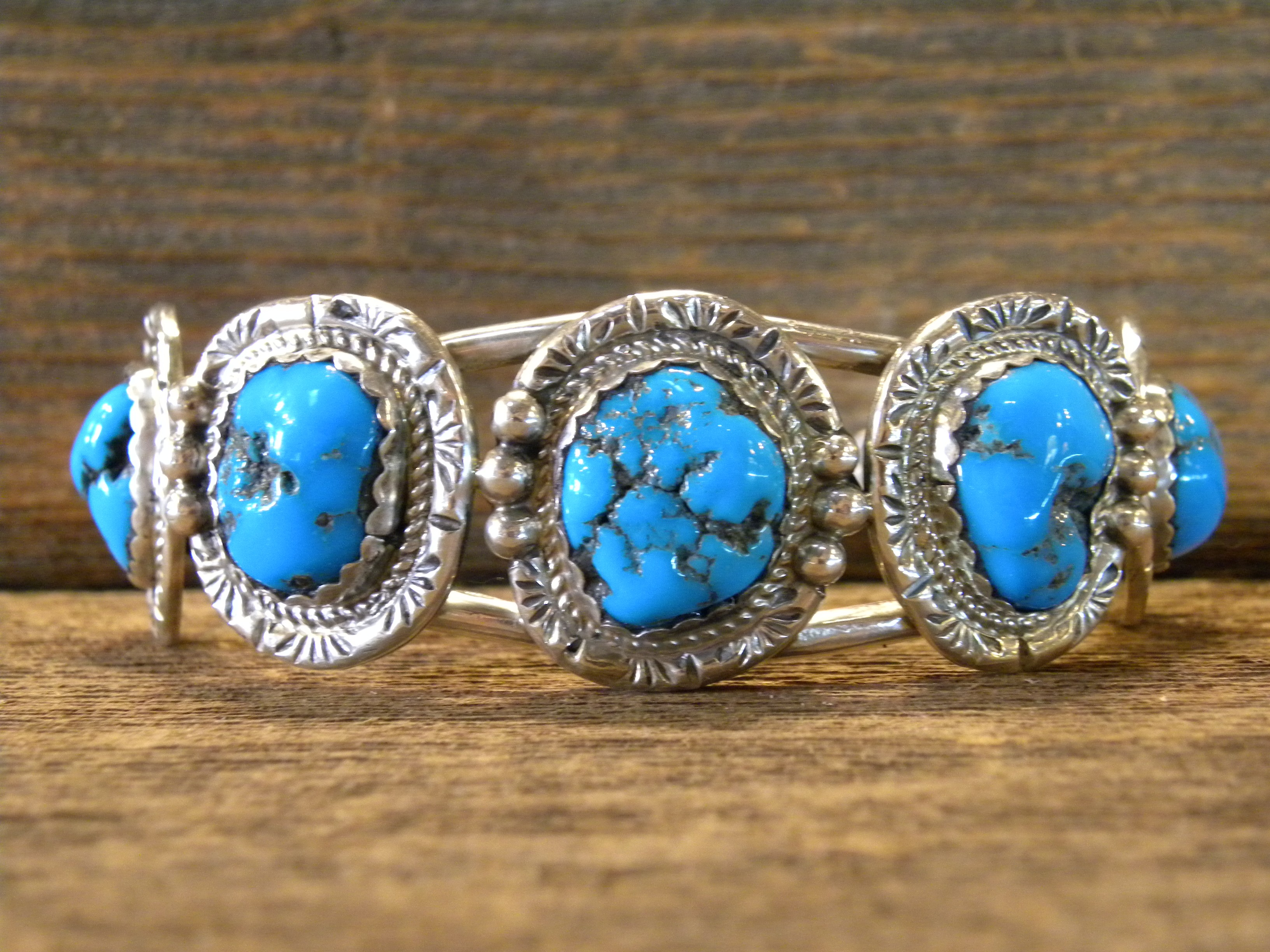 MLB4 Monroe & Lillie Ashley 5 stone Sleeping Beauty Turquoise Bracelet