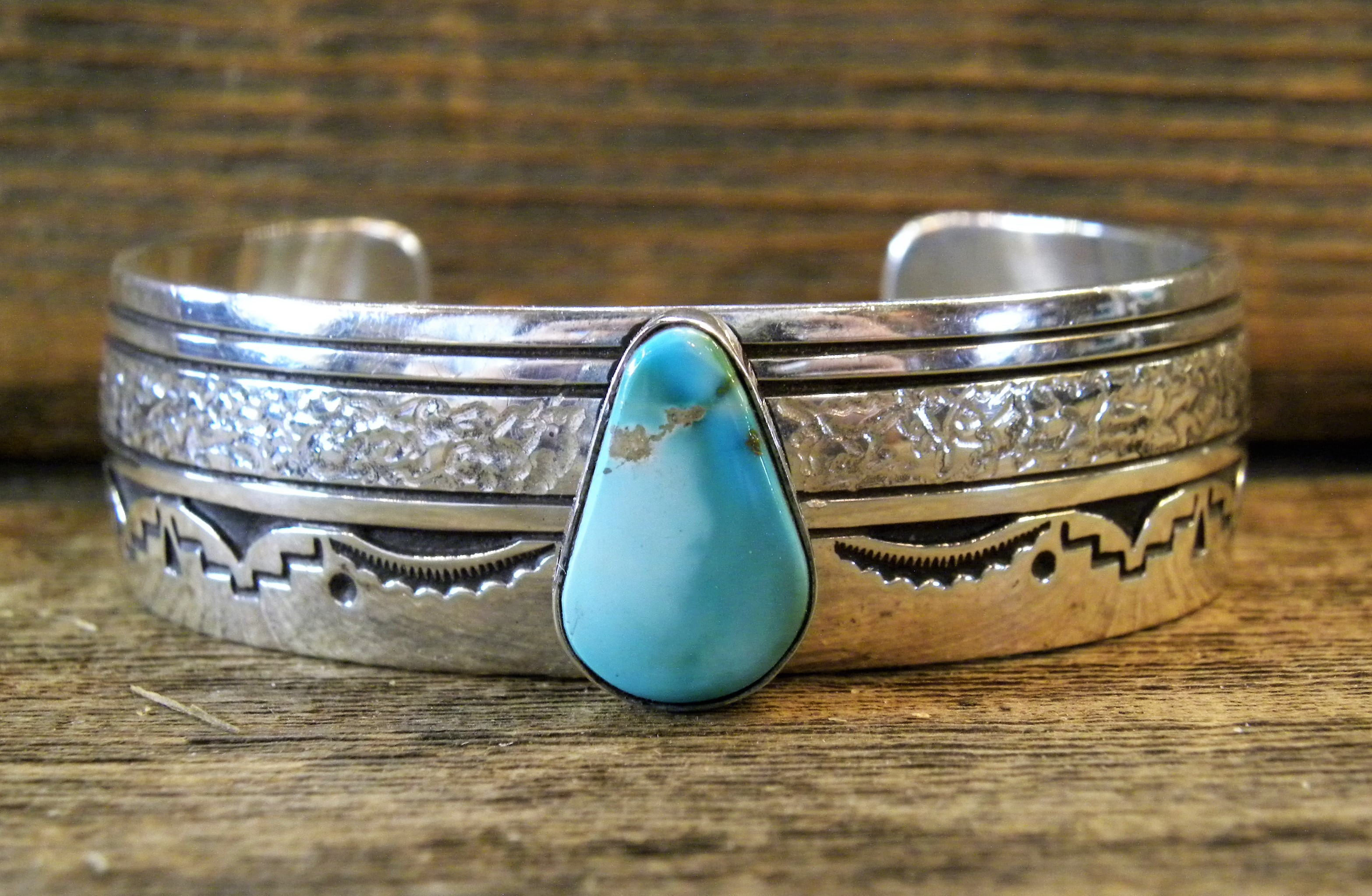 auctions navajo sale number silver and turquoise lot bracelet view lots
