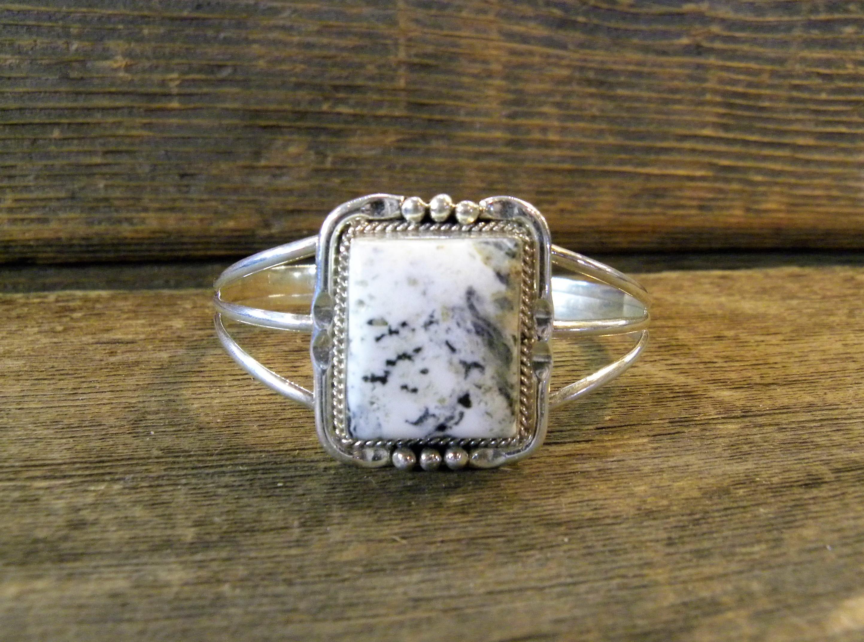 B2- White Buffalo Navajo Handmade Bracelet