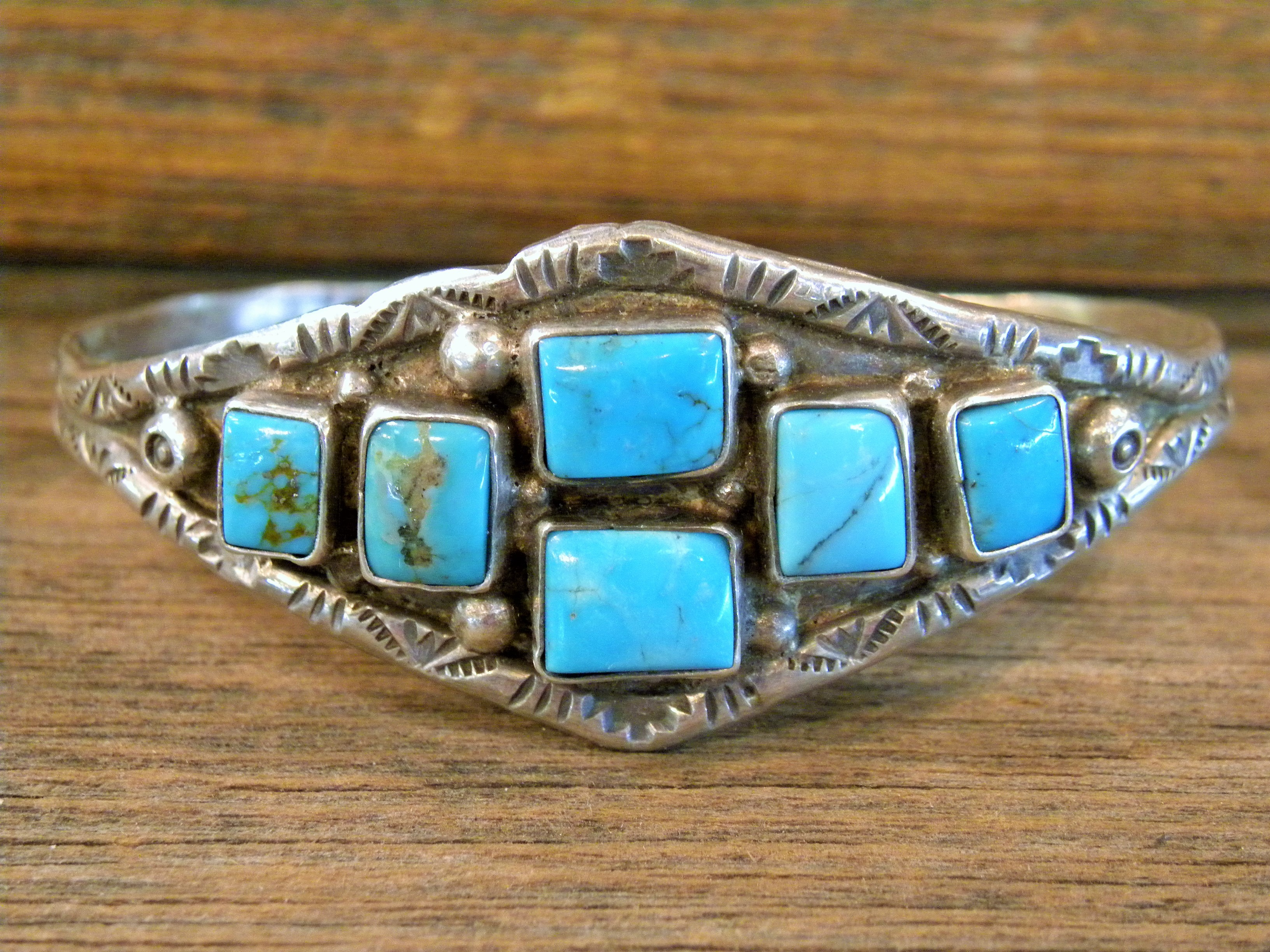 PB29 Pawn Sterling Silver Navajo Handmade Bracelet