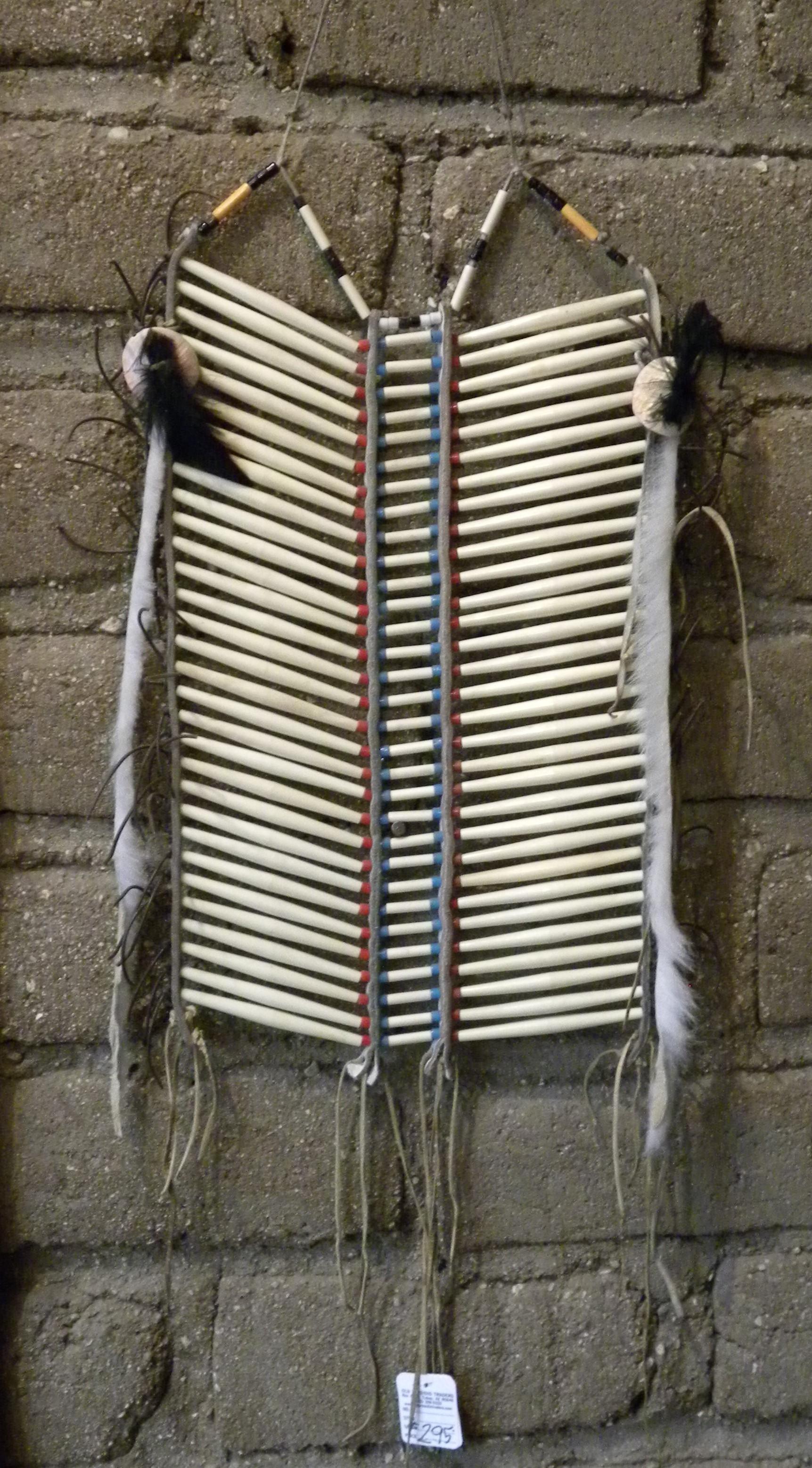 NBP1 Navajo Handmade Bone Breast Plate