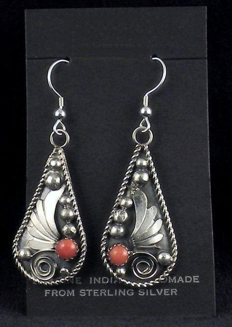 ERN8 Monroe & Lillie Ashley Coral Earrings