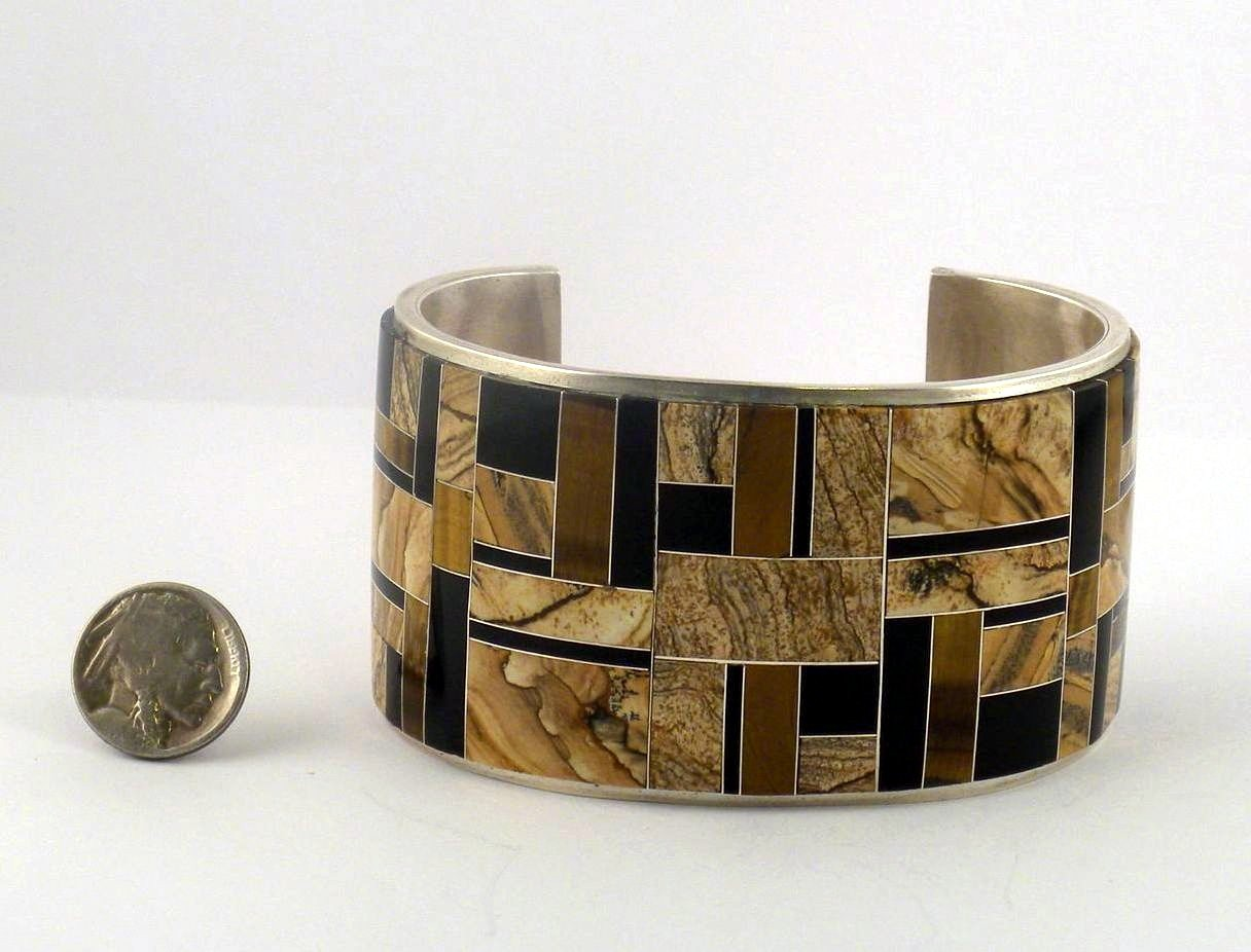 BPN10 Inlay Pawned Bracelet Multi Colors