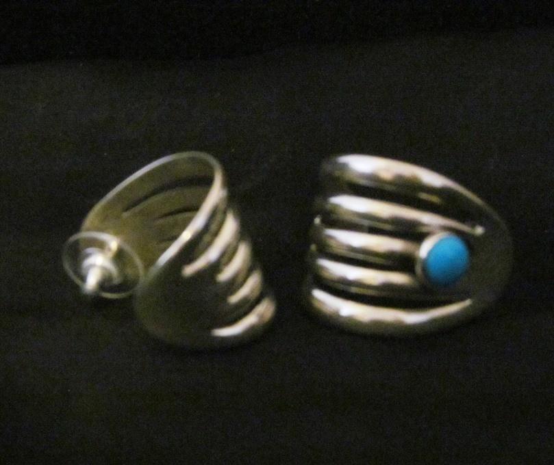 ATE5 Alvin Thompson Sand Cast Earrings
