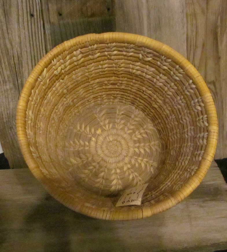 Circa 1960 Handmade Basket by Native American Indians ONB17