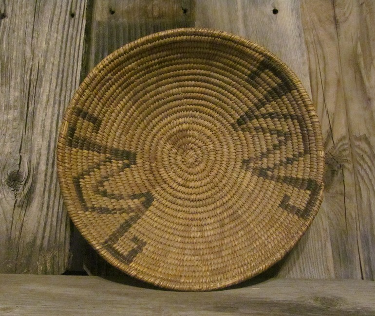 Handmade basket by the Tohono O'odham Indians, Circa 1960 ONB22