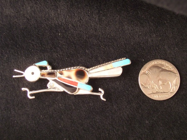 P8 Inlay Road Runner Pin/Pendant